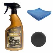 Detalhe Final Cadillac Cera liquida automotiva c/ microfibra e aplicador