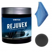 Revitalizador Renova Plástico Rejuvex Vonixx Vintex Com aplicador Microfibra