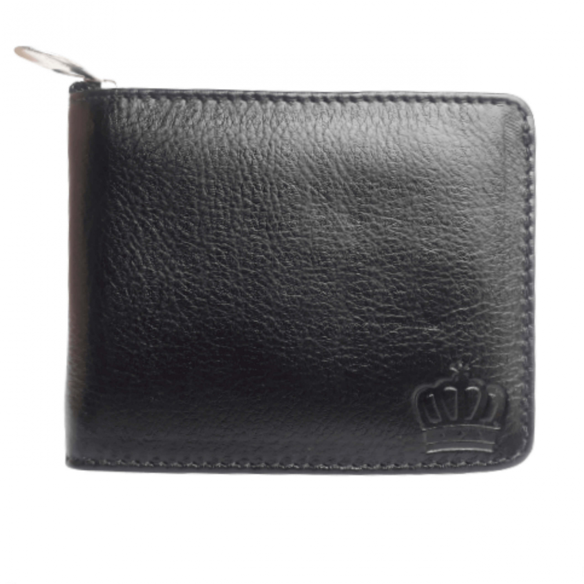Carteira Masculina De Couro com ziper moderno porta cartão moedas Luxxo