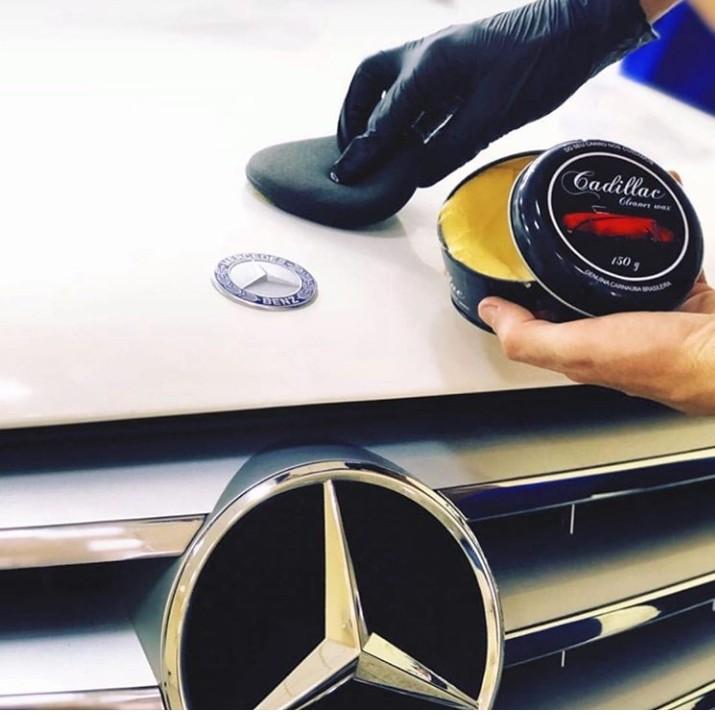 Cera de carnauba Cadillac carro preto branco brilho proteção 300g