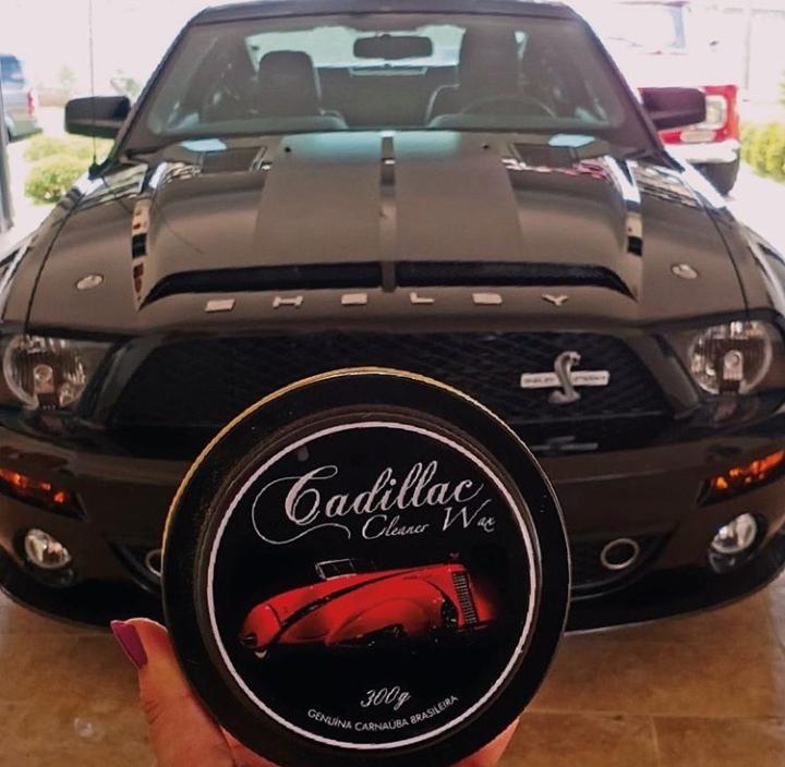 Cera Cadillac Automotiva Carnauba c/ Microfibra e Aplicador Original 300g