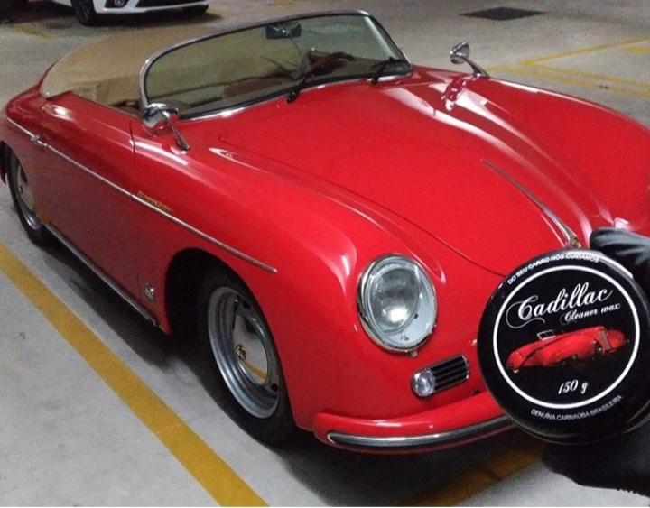 Cera Cadillac Automotiva de Carnauba c/ Microfibra e Aplicador Original