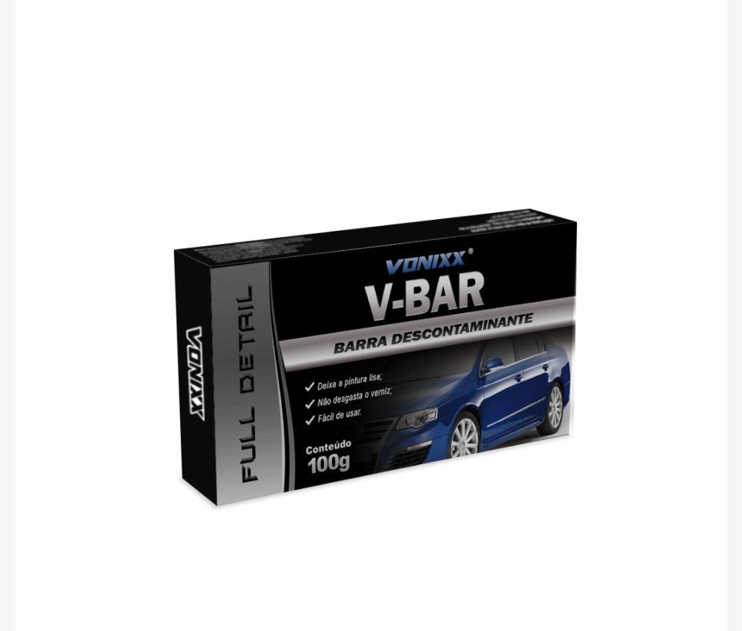 Massa clay bar V-Bar Vonixx descontaminante de pintura 100g