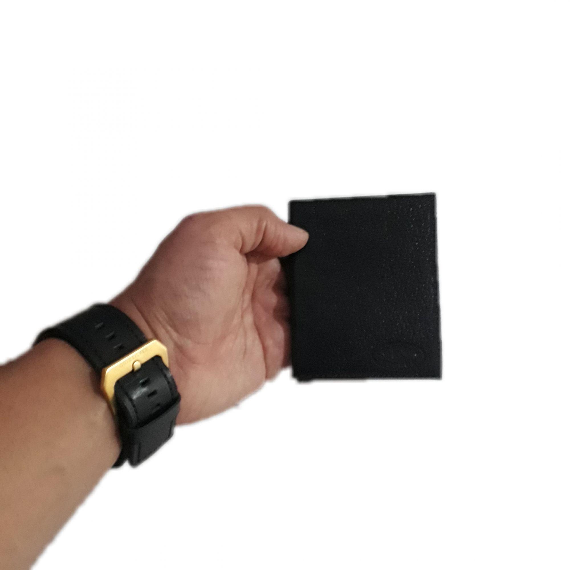 Porta cartão de couro legitimo masculino moderno pratico