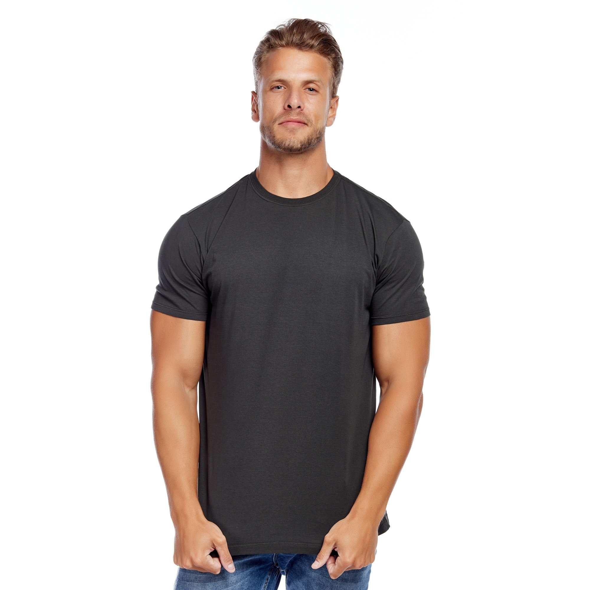 Camiseta Básica Cinza Escuro Algodão Orgânico