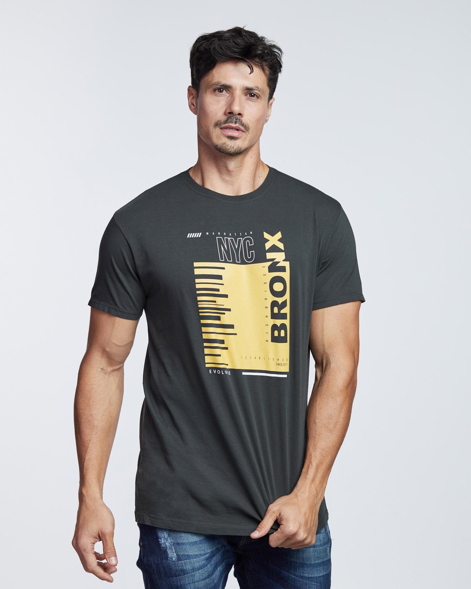 Camiseta Bronx Masculina Evolvee