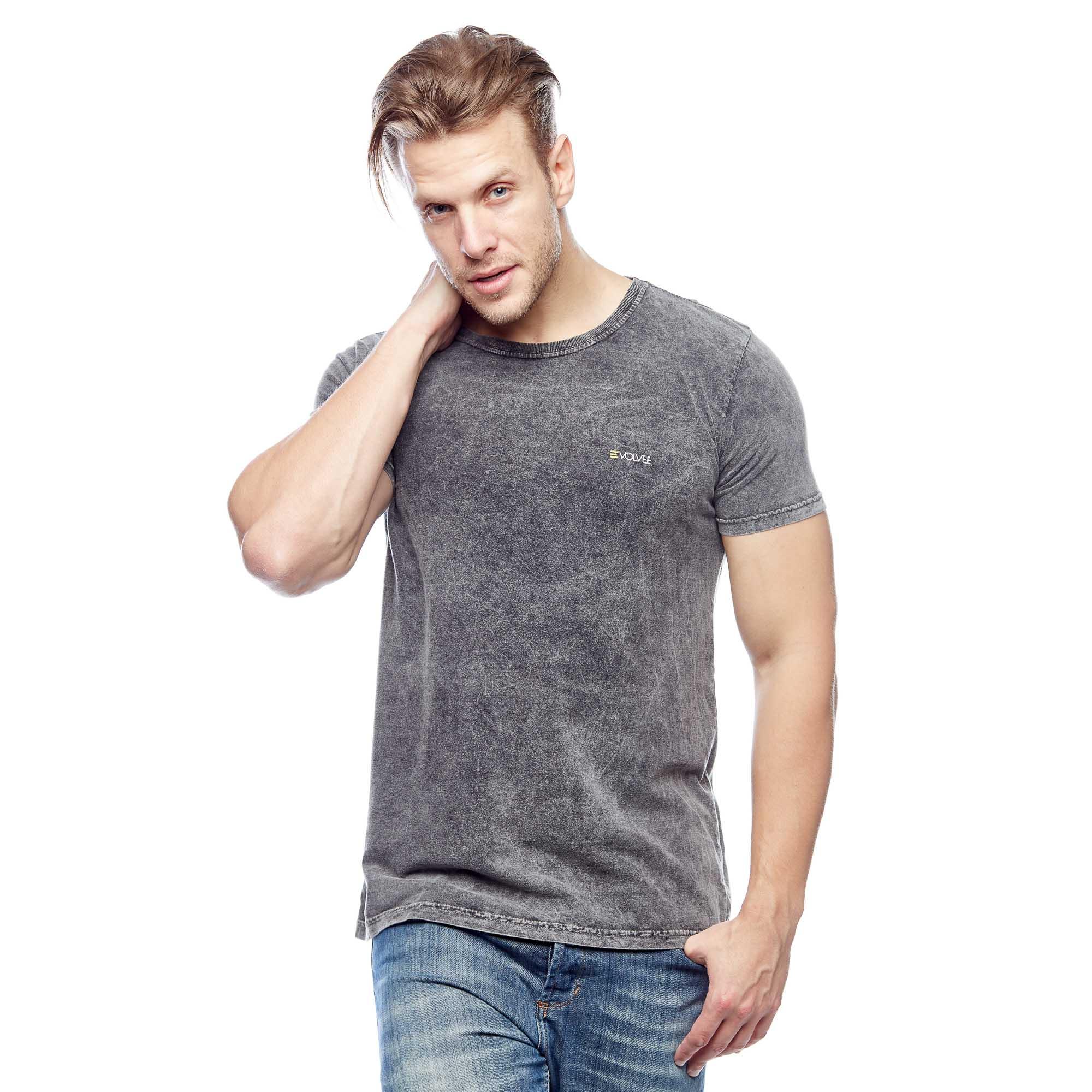 Camiseta Básica Marmorizada Tradicional Masculina Evolvee