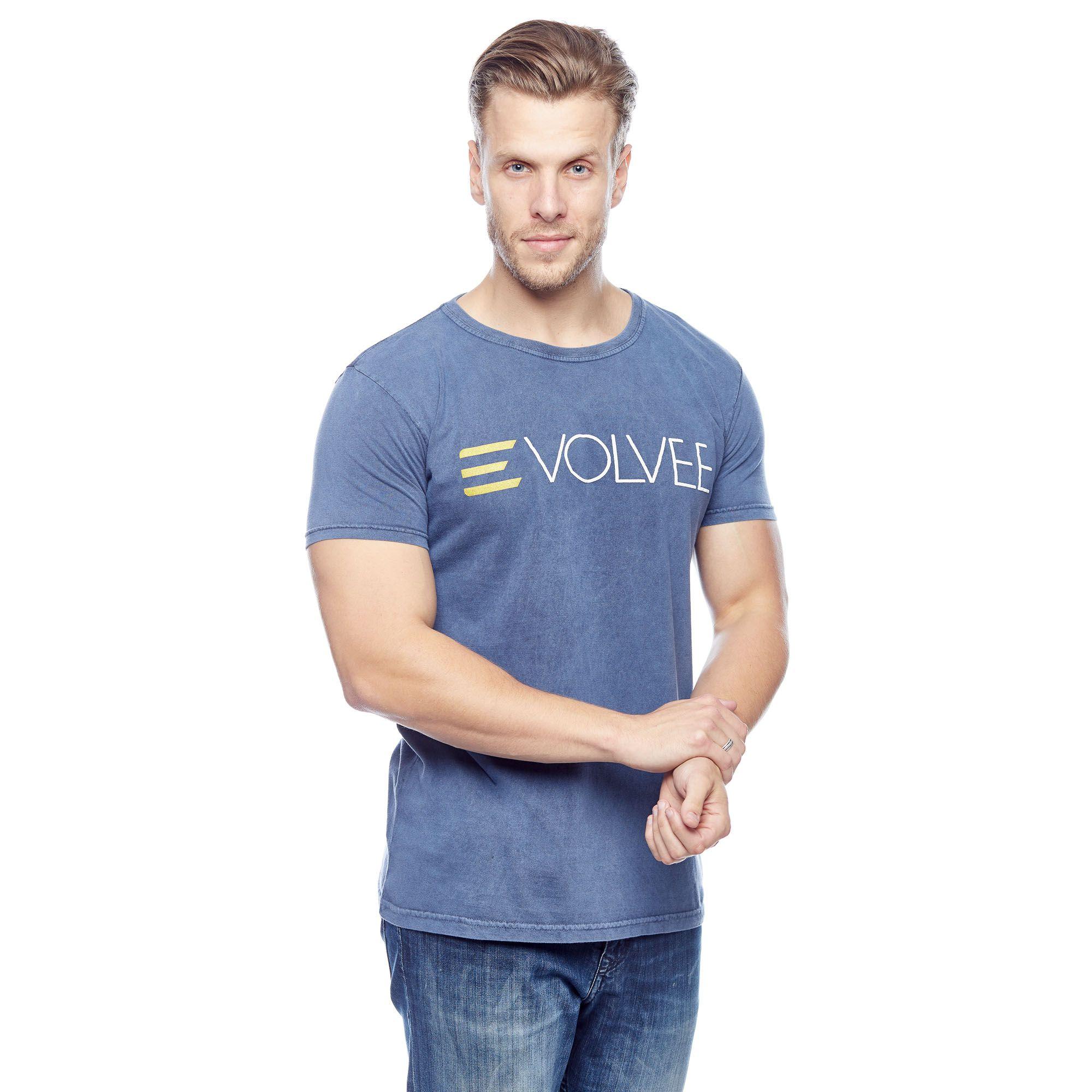 Camiseta Evolvee Básica Marmorizada Tradicional Masculina