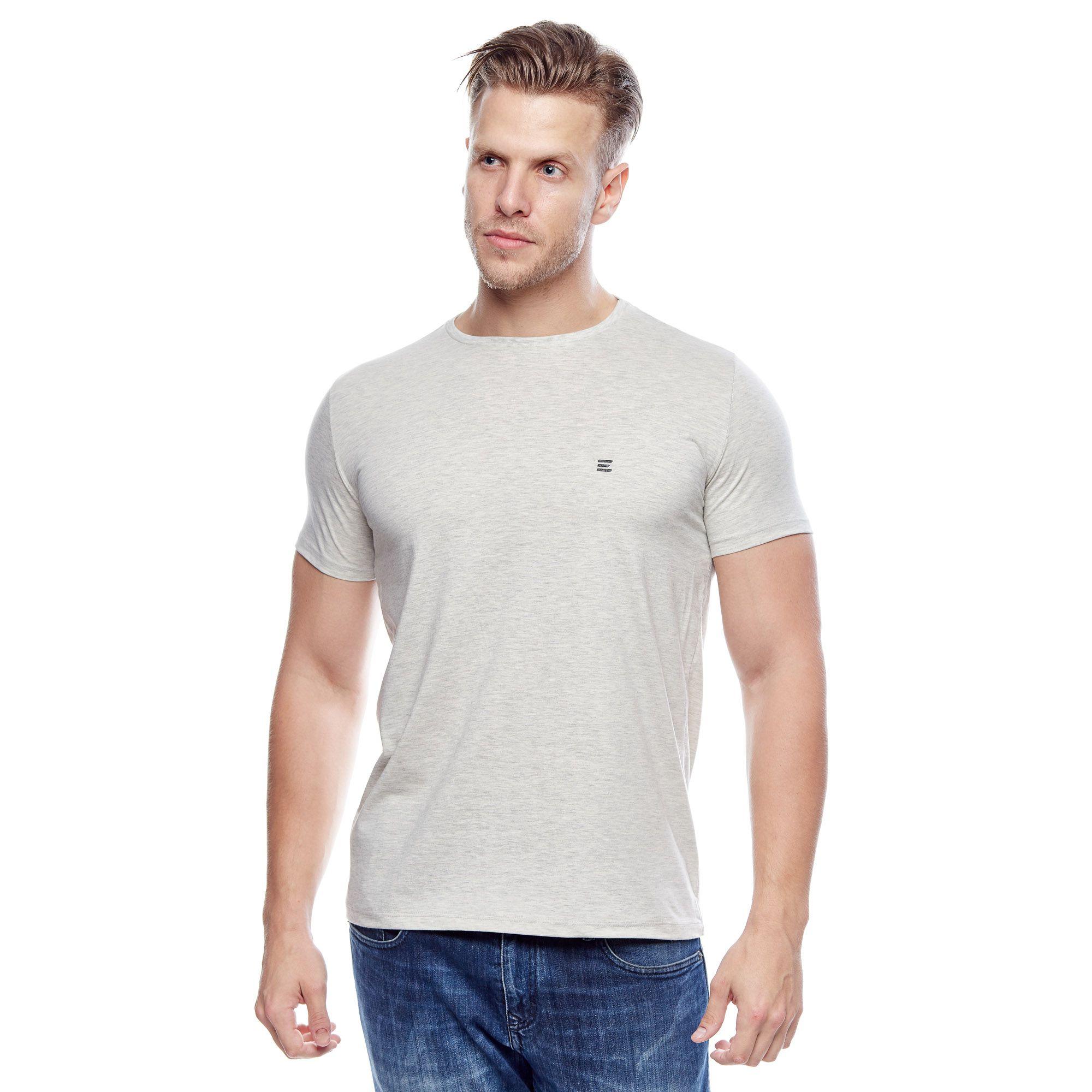 Camiseta Evolvee Básica Meia Malha Masculina