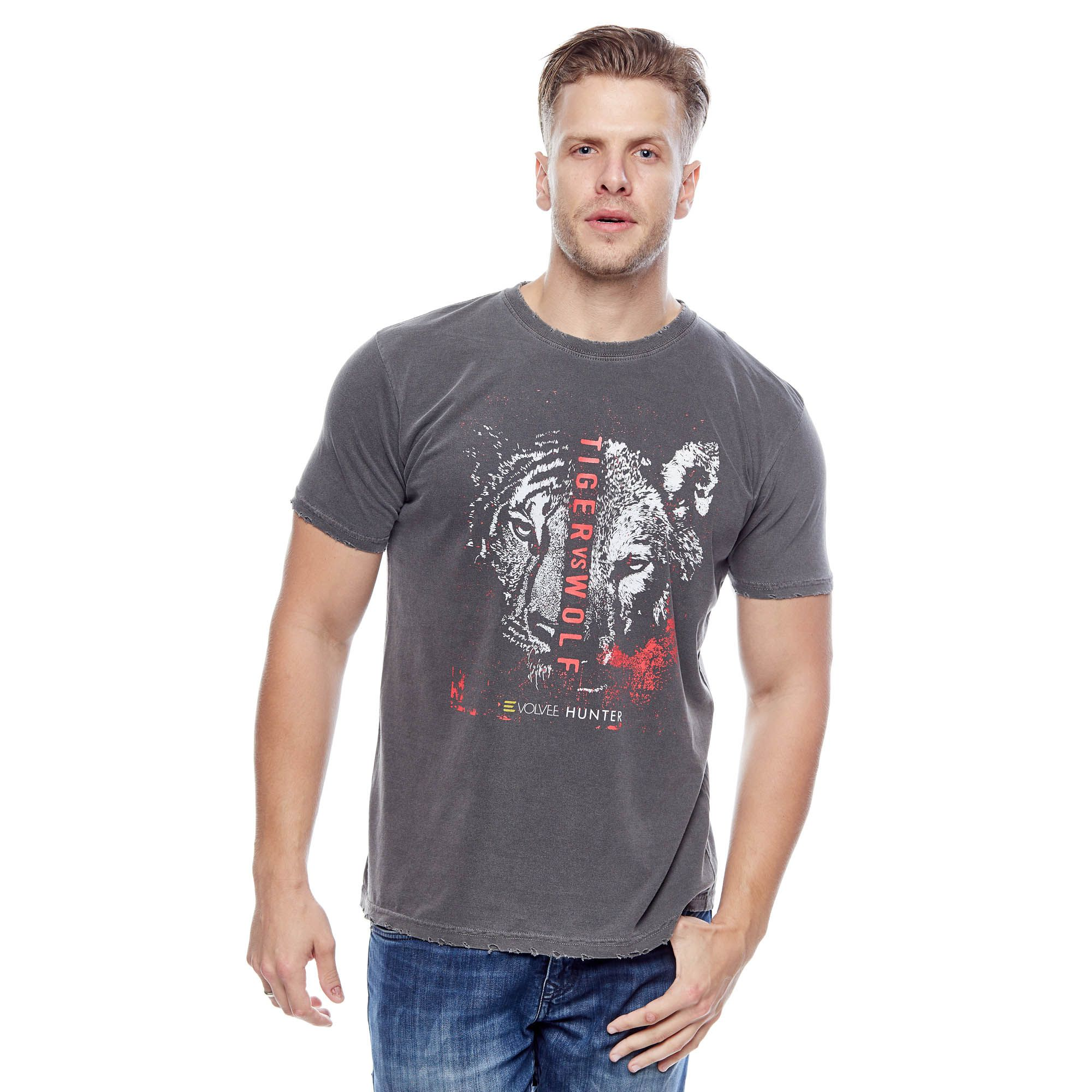 Camiseta Evolvee Tiger Vs Wolf Masculina
