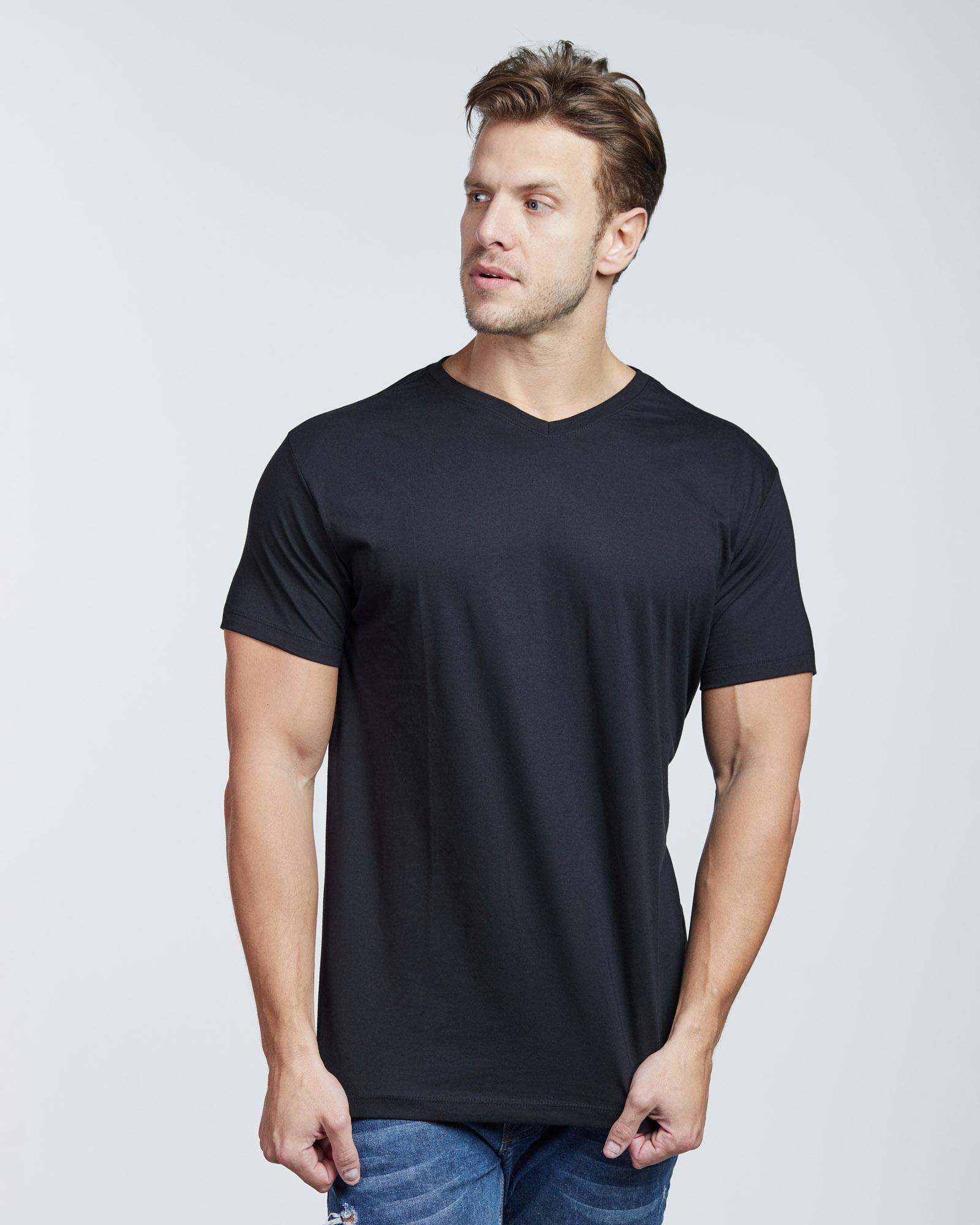 Camiseta Gola V Algodão Orgânico Evolvee