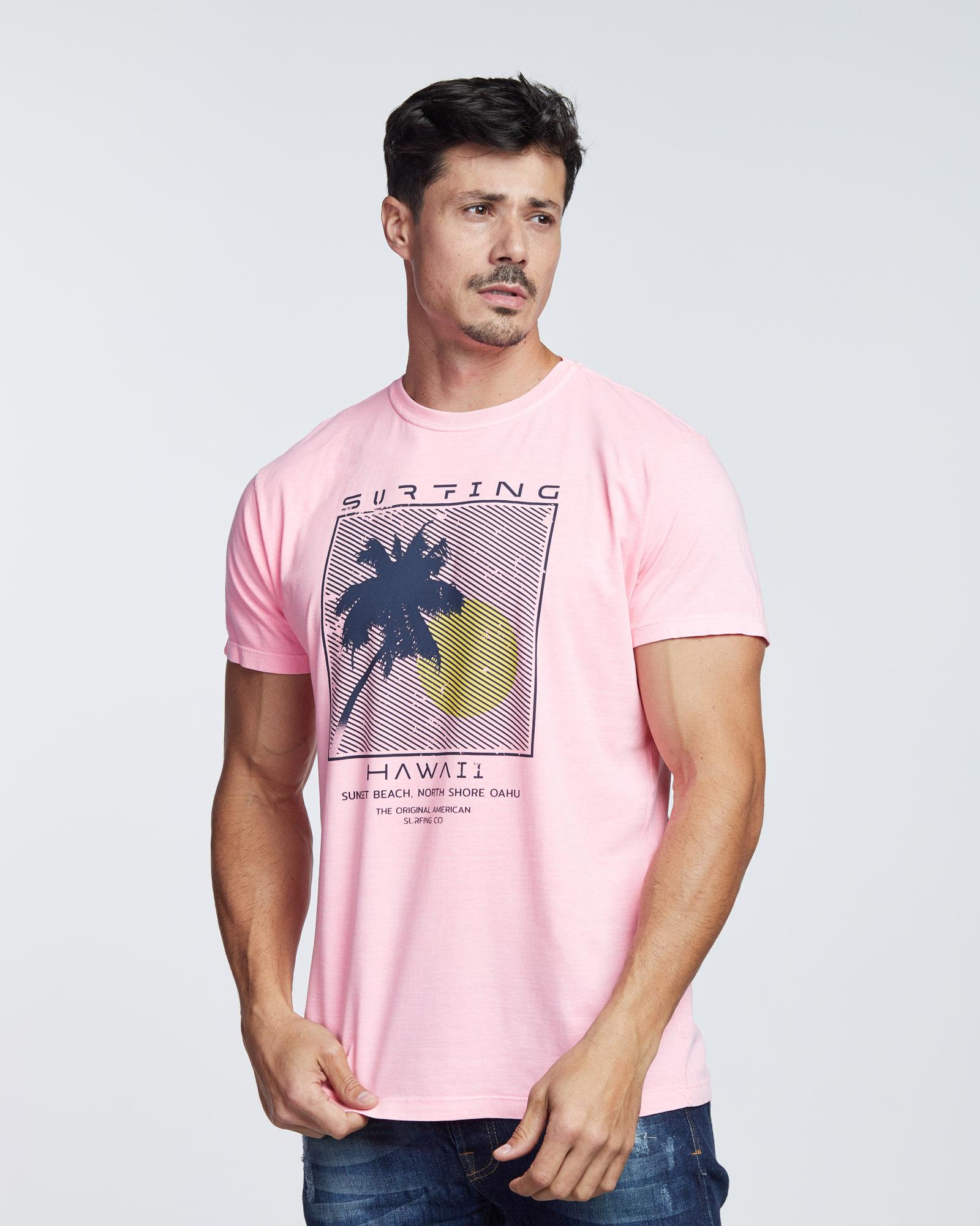 Camiseta Hawaii Surfing Masculina Evolvee