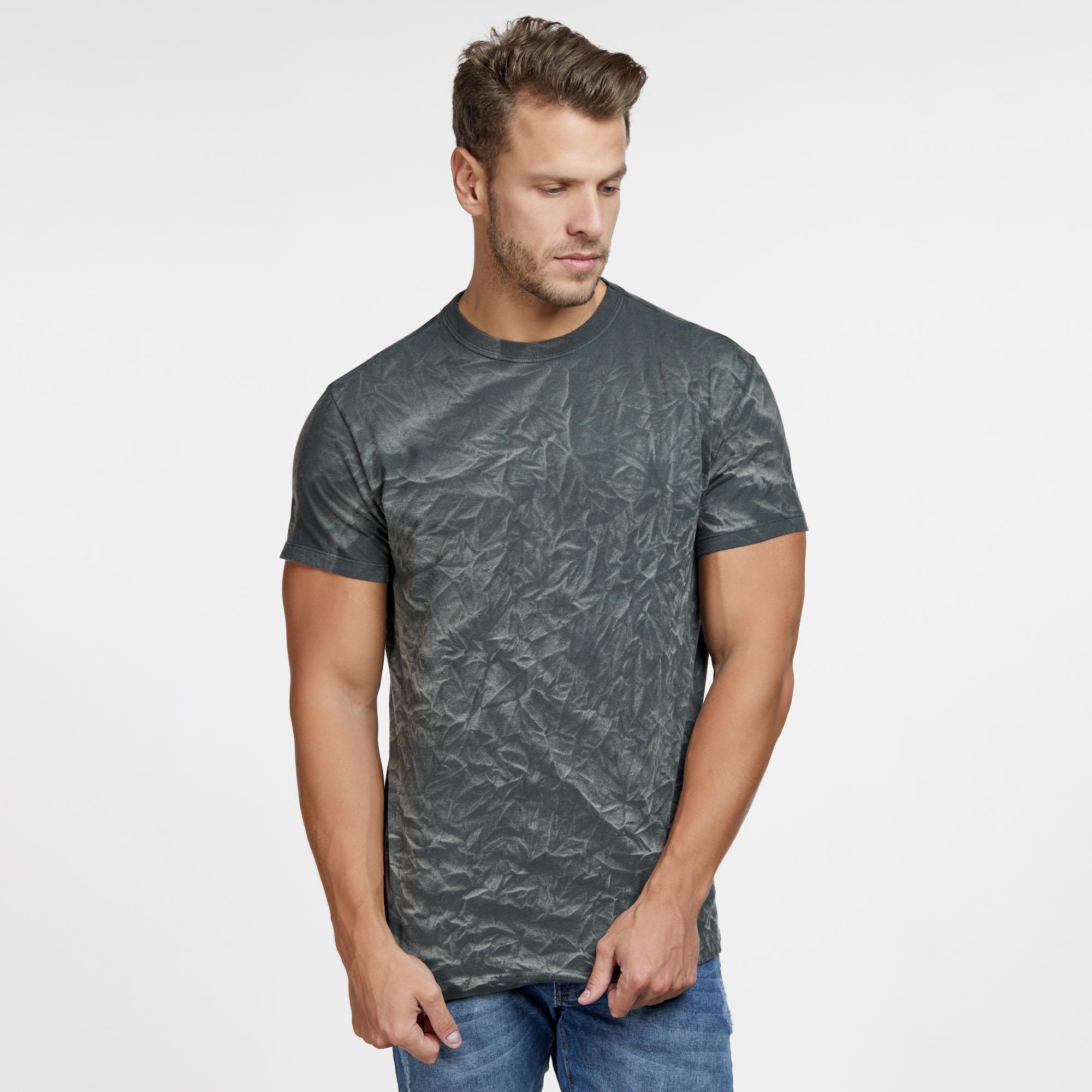 Camiseta Masculina 3D Verde Musgo