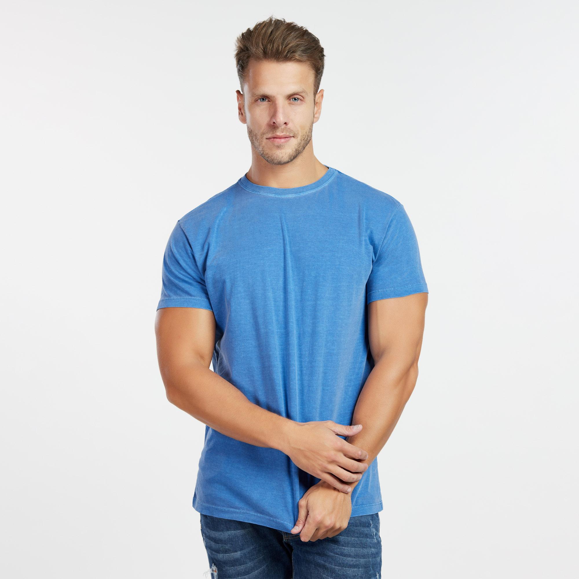 Camiseta Masculina Estonada Azul Royal