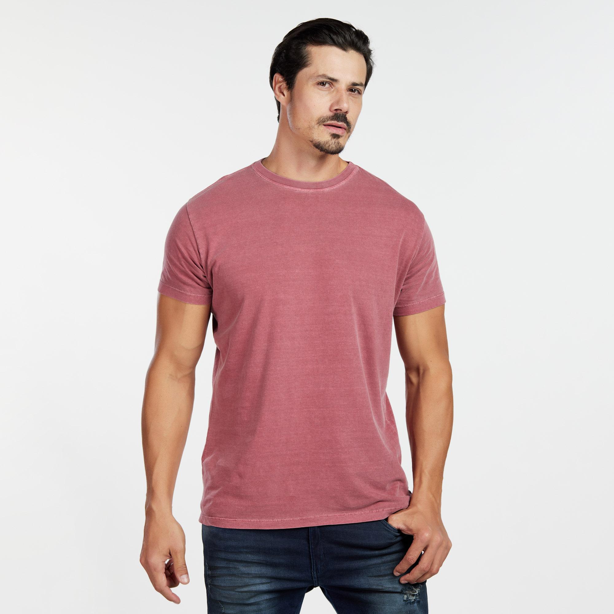 Camiseta Masculina Estonada Cereja