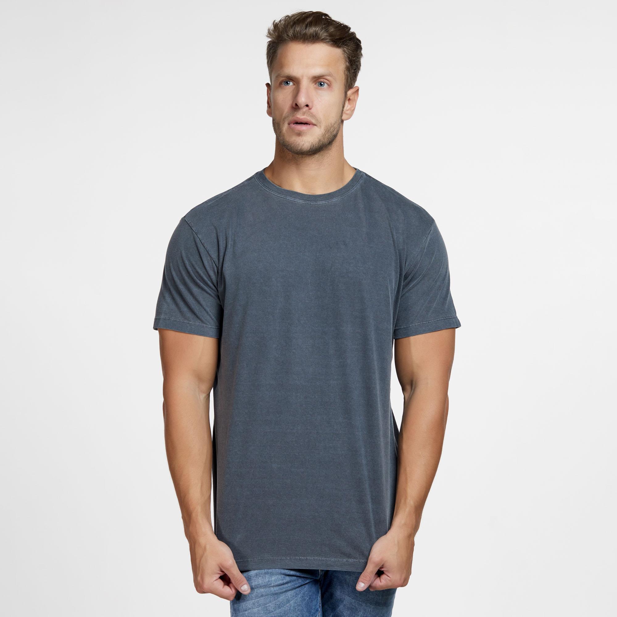 Camiseta Masculina Estonada Cinza Escuro
