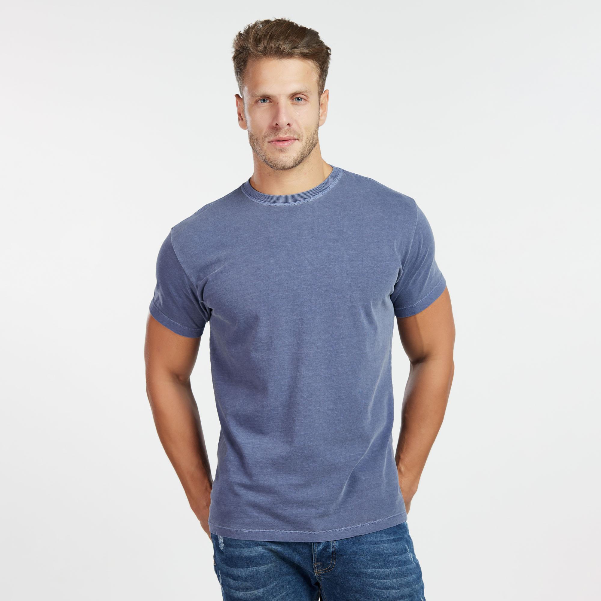 Camiseta Masculina Estonada Indigo