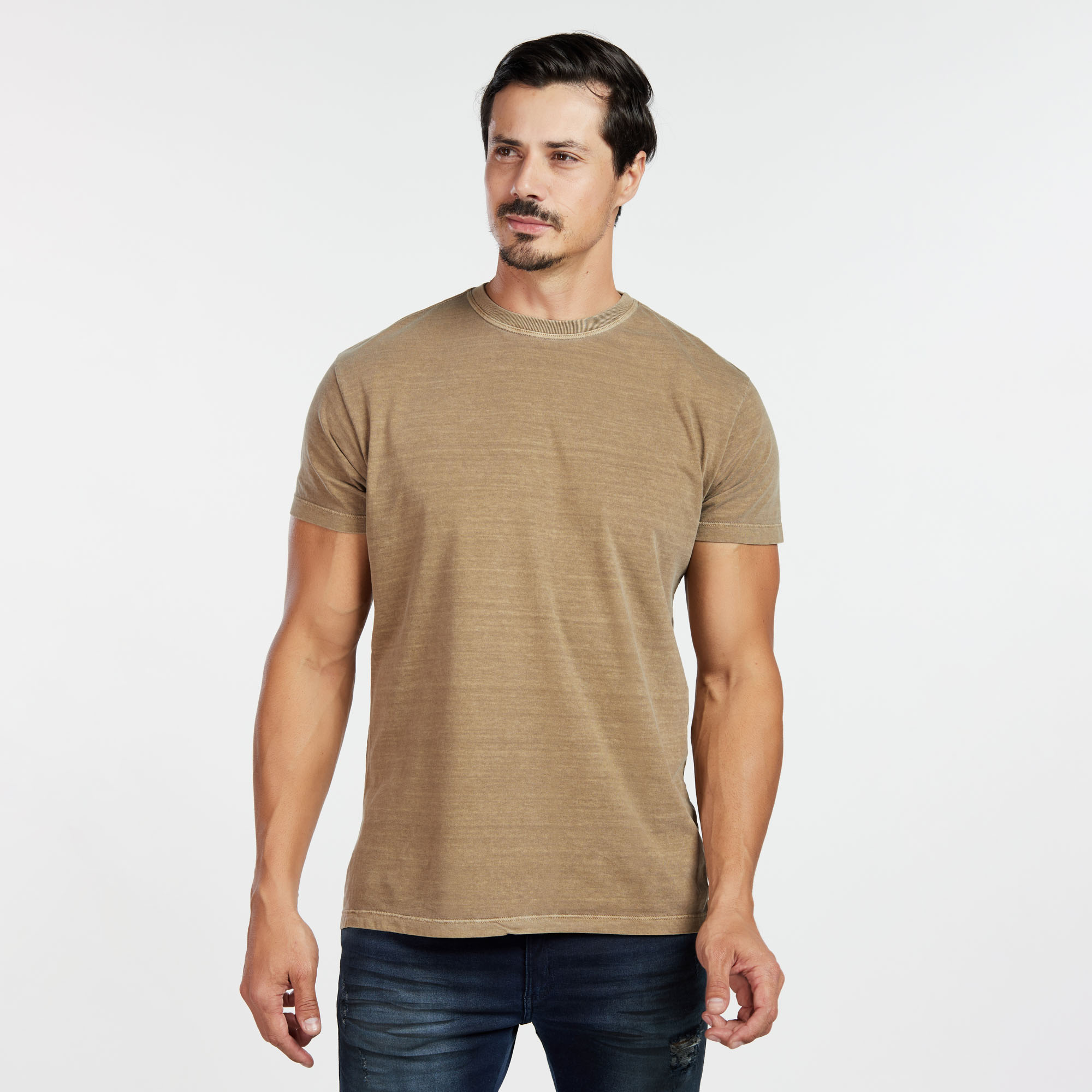 Camiseta Masculina Estonada Marrom