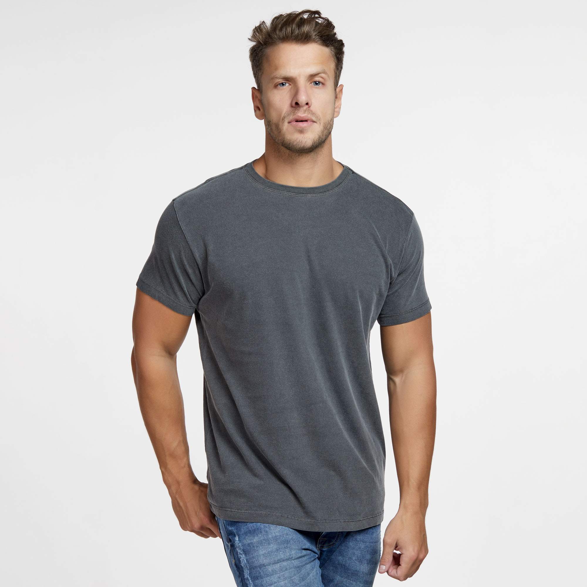 Camiseta Masculina Estonada Preta