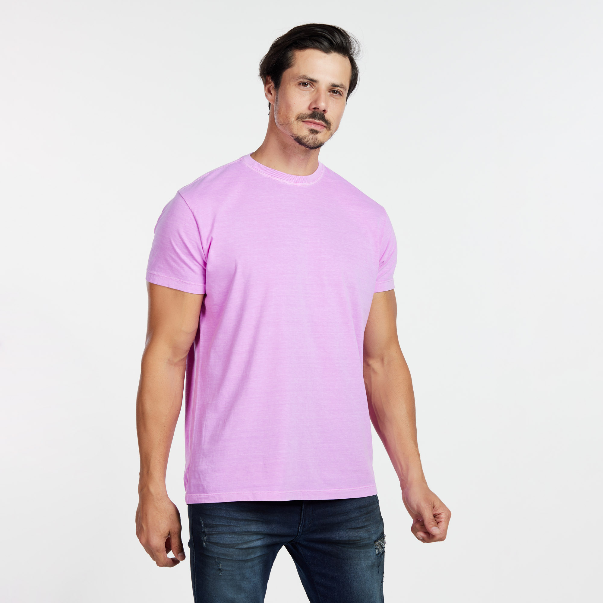 Camiseta Masculina Estonada Roxo Neon