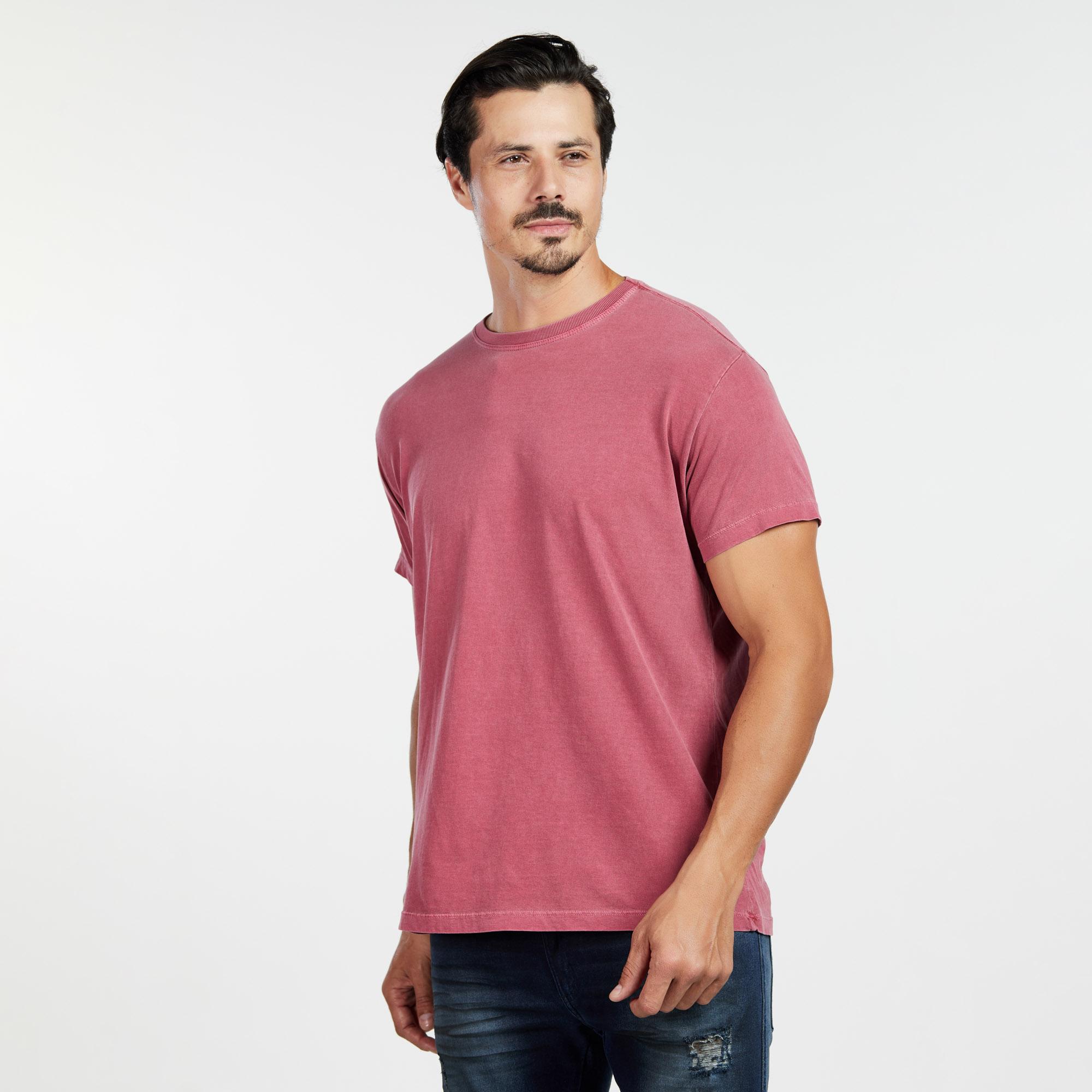 Camiseta Masculina Estonada Vermelho