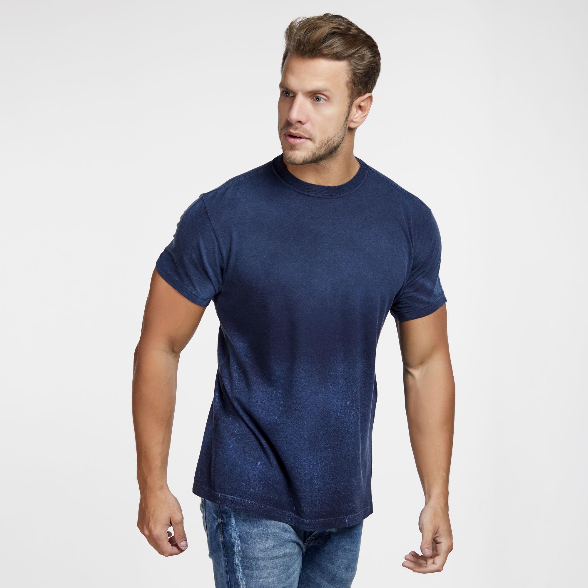 Camiseta Masculina Galaxy Inferior Azul Marinho