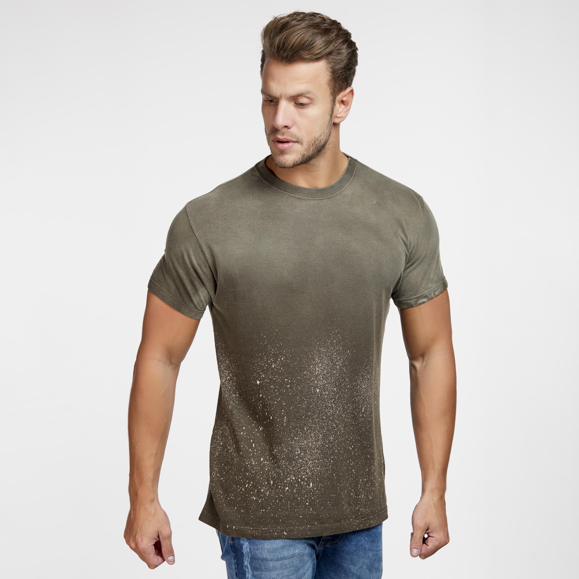 Camiseta Masculina Galaxy Inferior Marrom