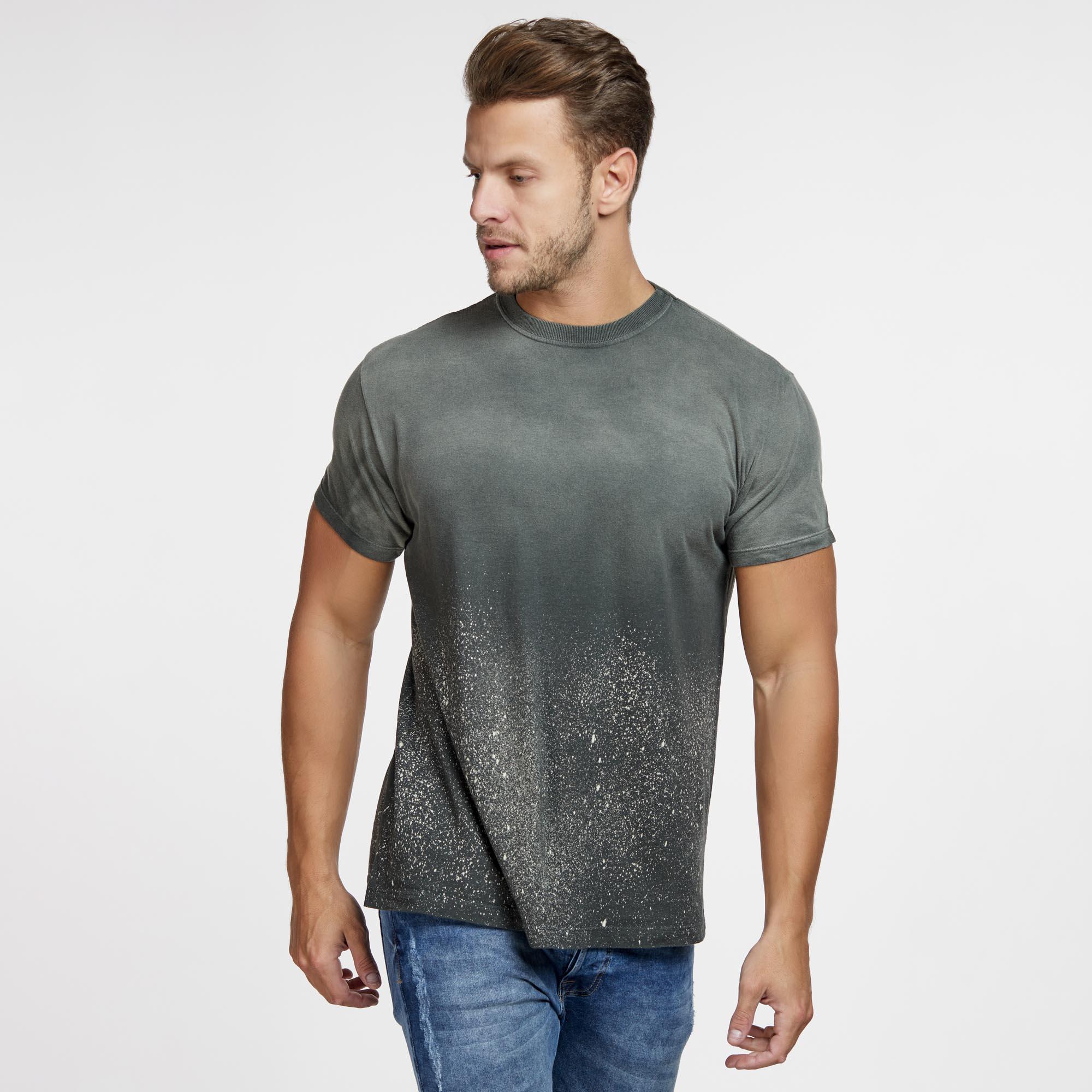 Camiseta Masculina Galaxy Inferior Verde Musgo