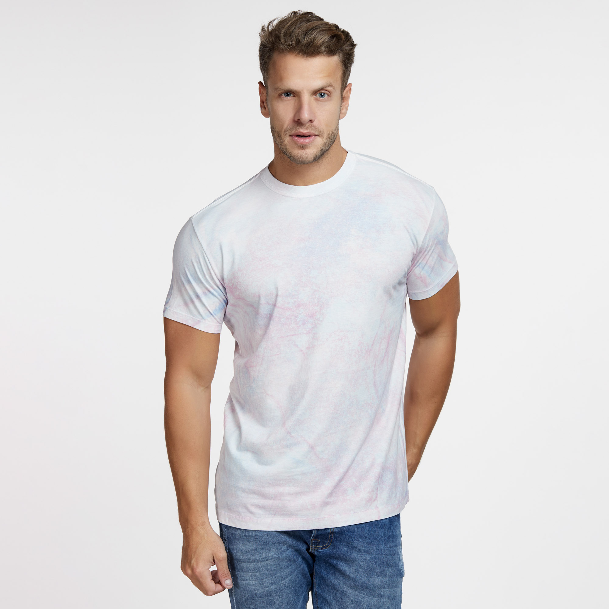 Camiseta Masculina Galaxy Total Branca