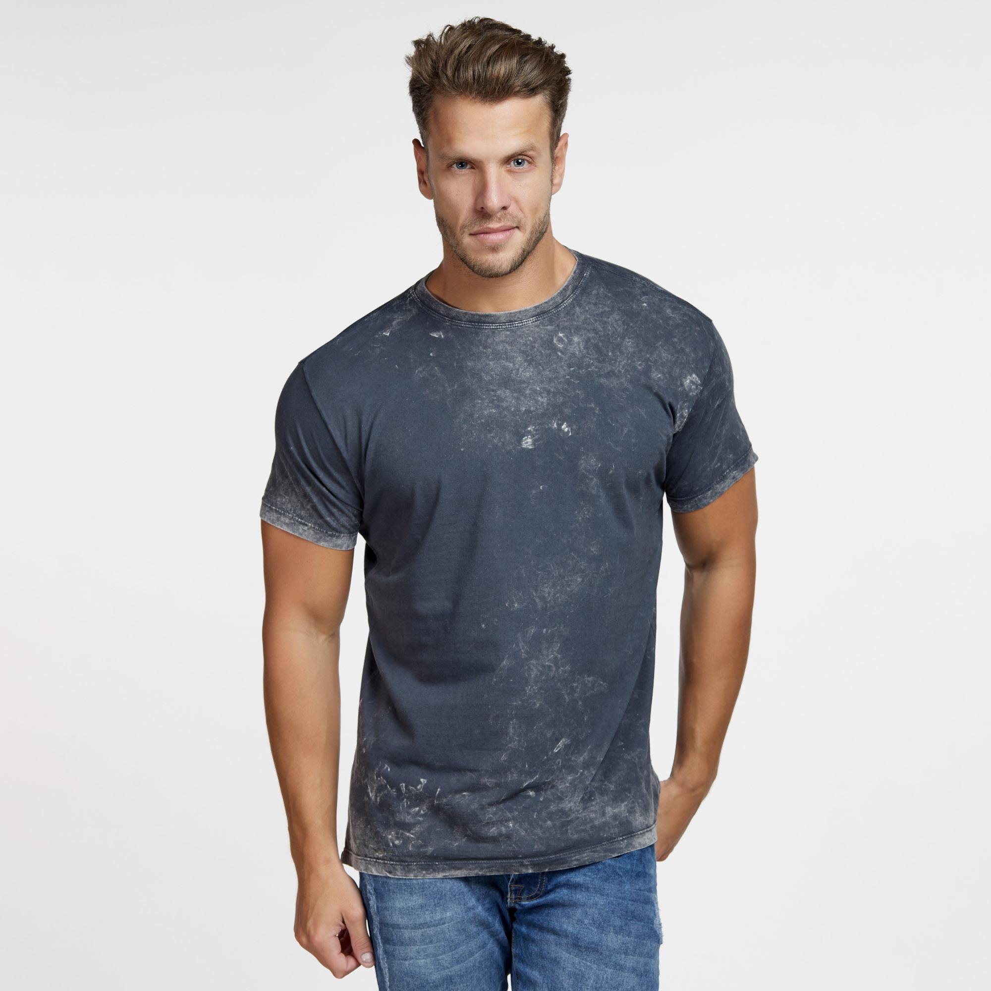 Camiseta Masculina Marmorizada do Avesso Chumbo