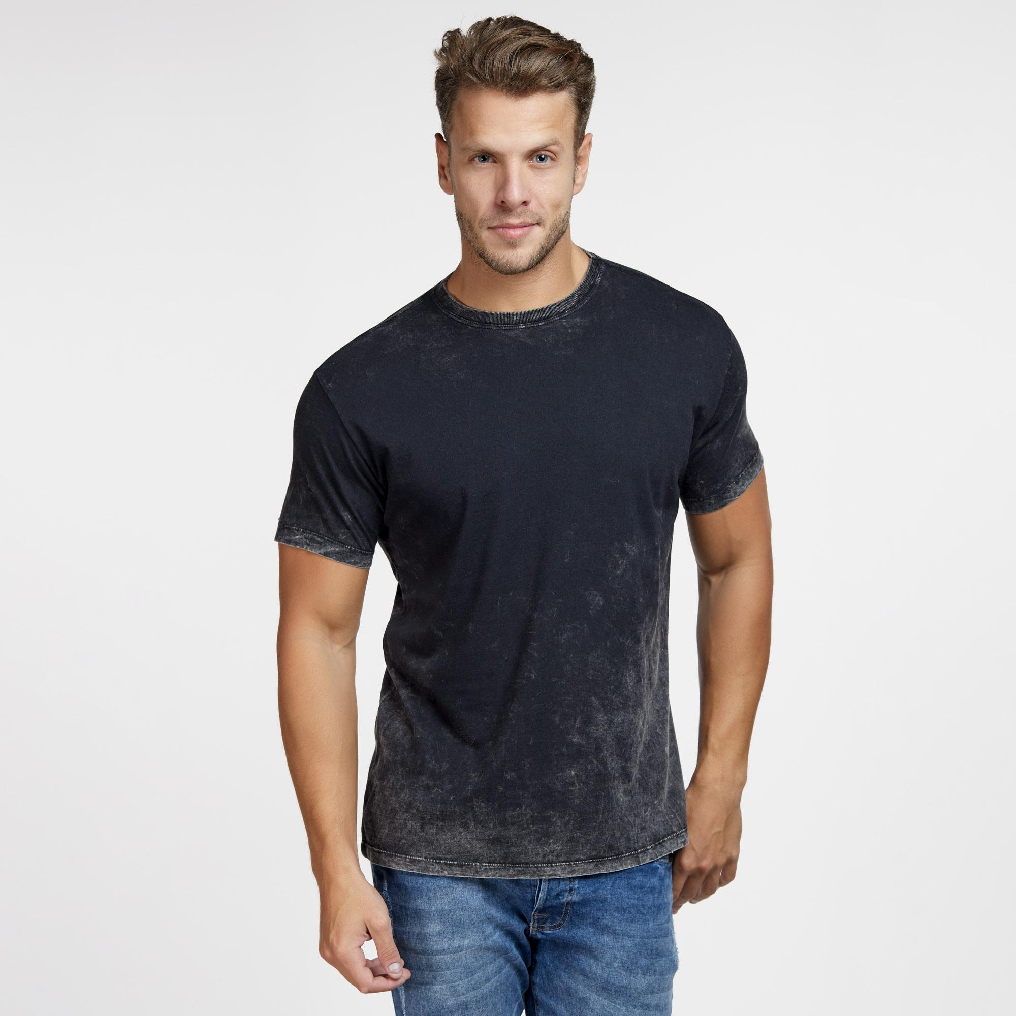 Camiseta Masculina Marmorizada do Avesso Preta