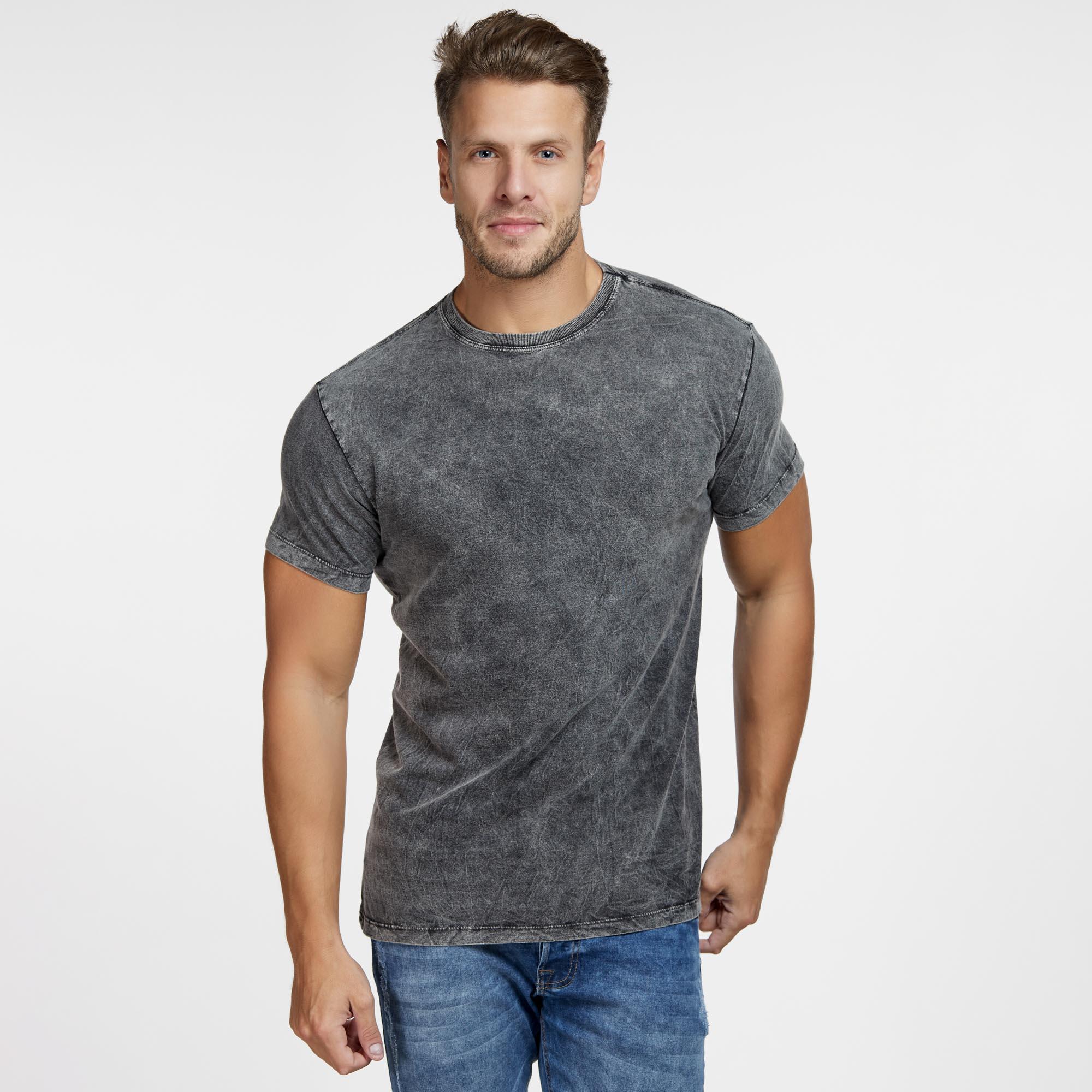 Camiseta Masculina Marmorizada Total Preta