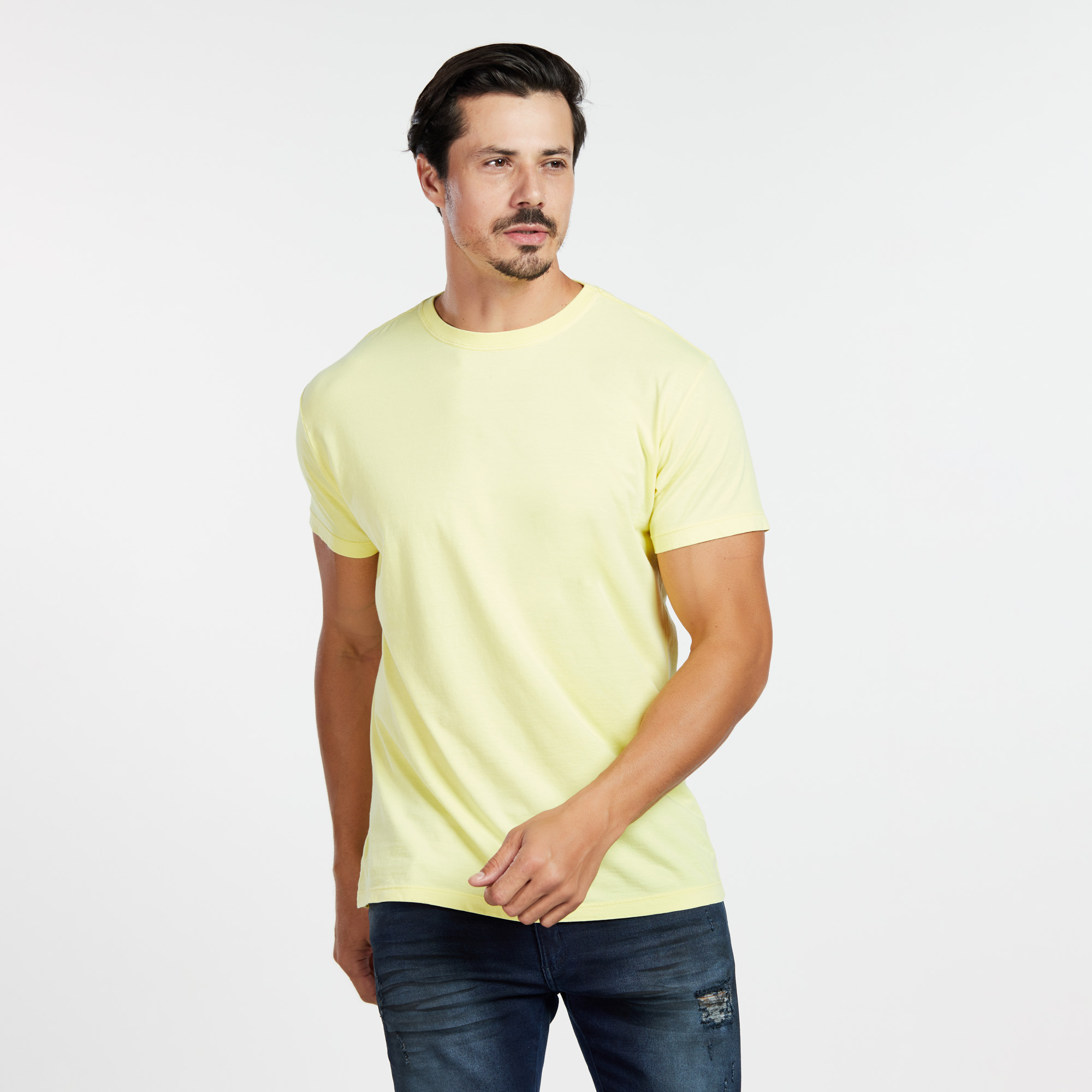 Camiseta Masculina Reativo Amarelo