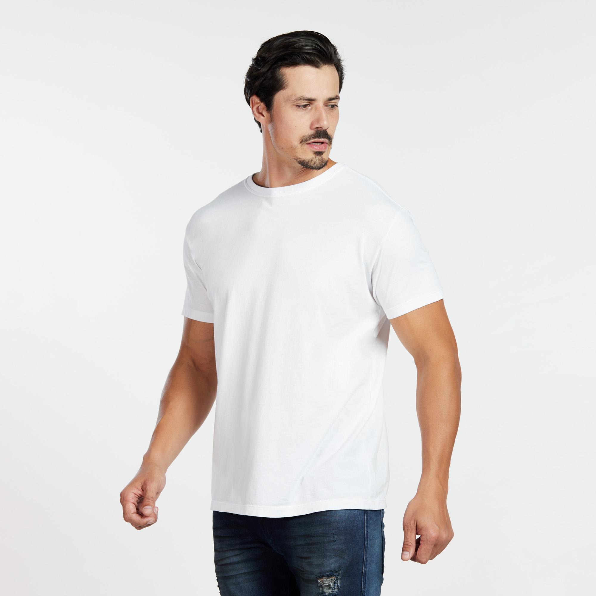 Camiseta Masculina Reativo Branca