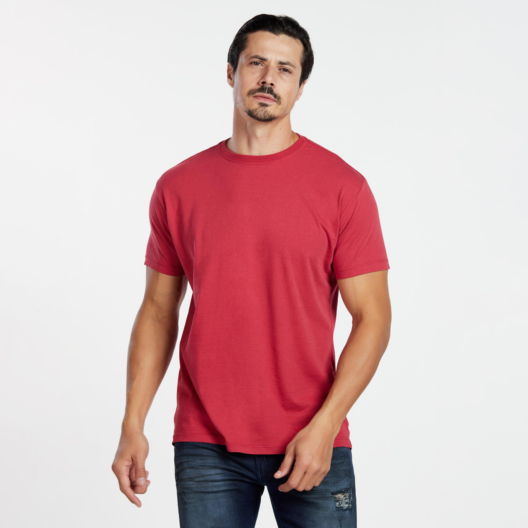 Camiseta Masculina Reativo Cereja