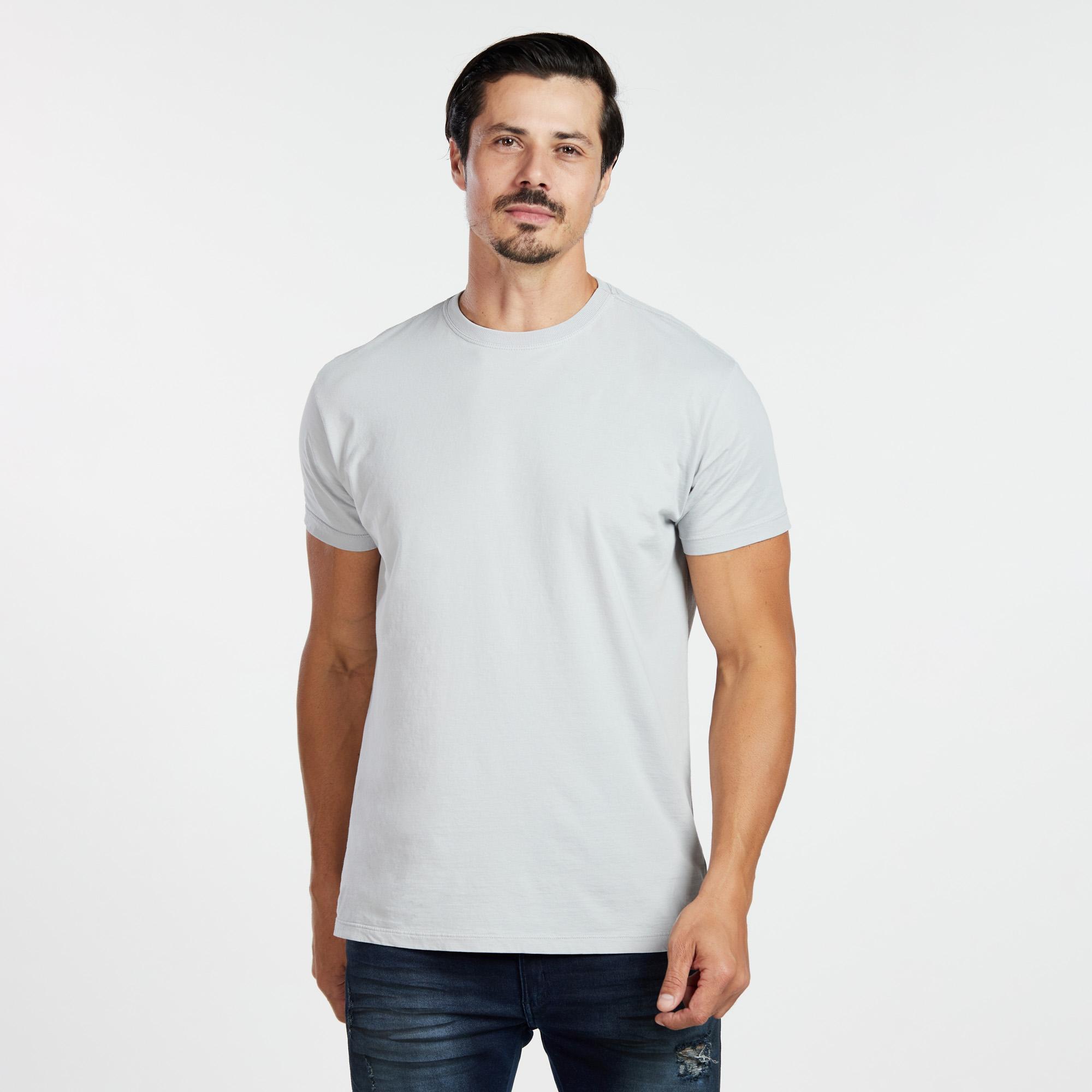 Camiseta Masculina Reativo Cinza Claro