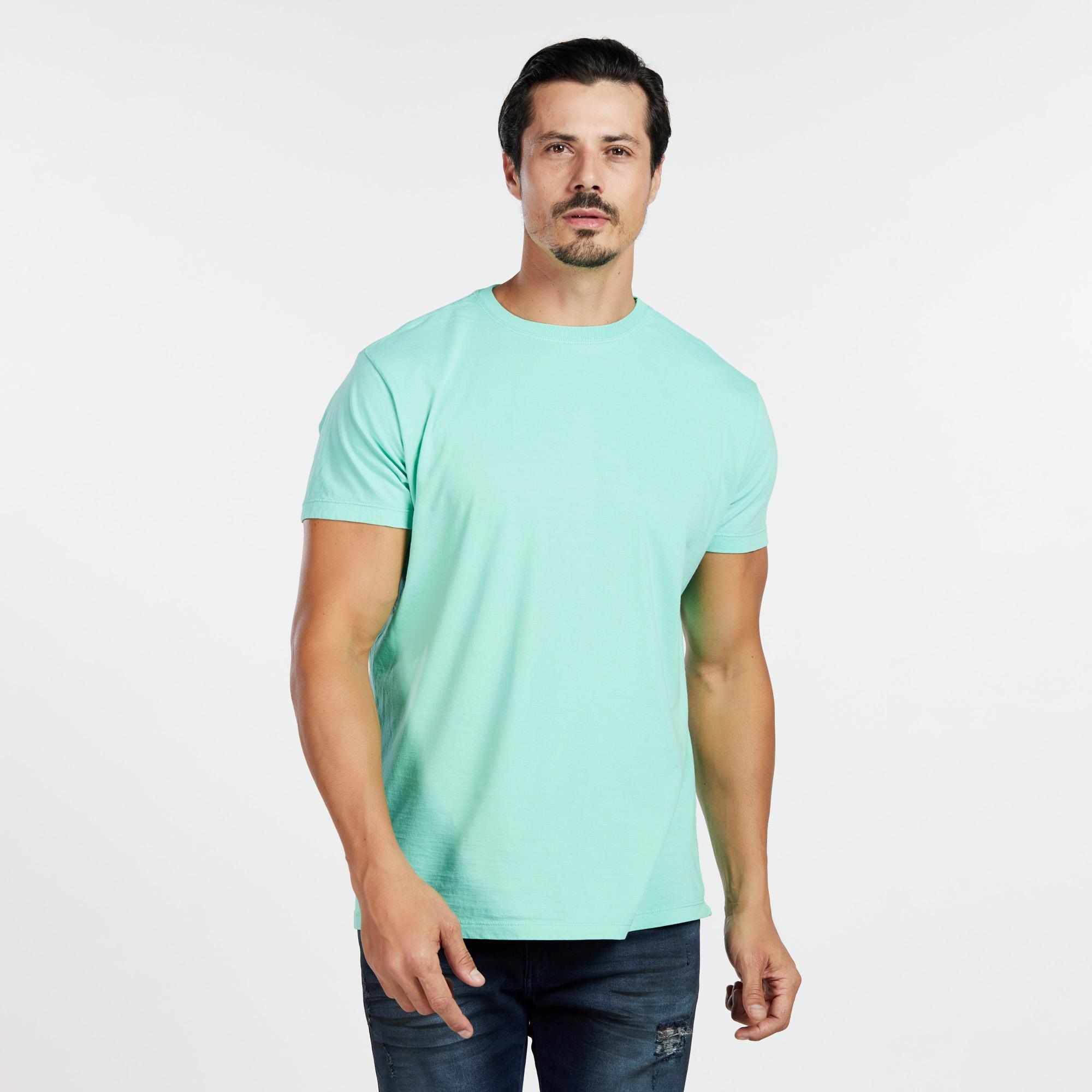 Camiseta Masculina Reativo Verde Água