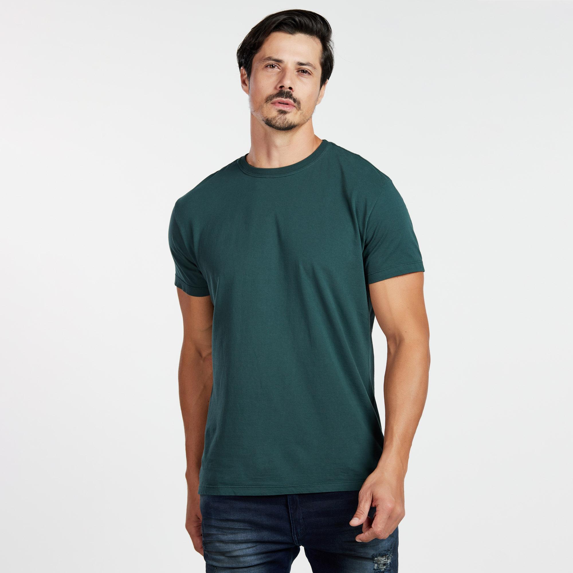 Camiseta Masculina Reativo Verde Escuro
