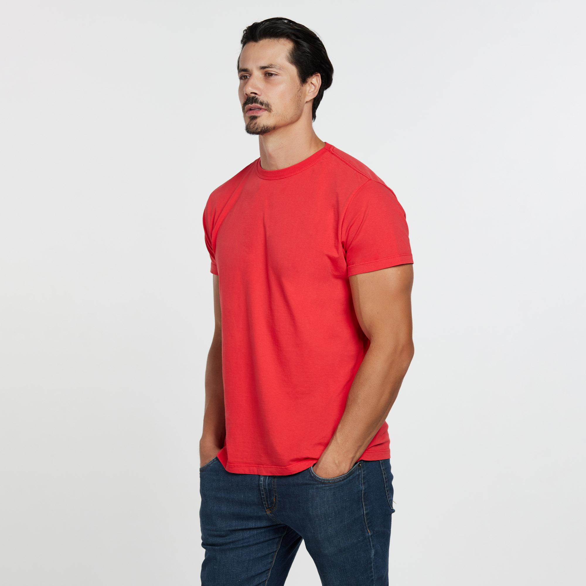 Camiseta Masculina Reativo Vermelho