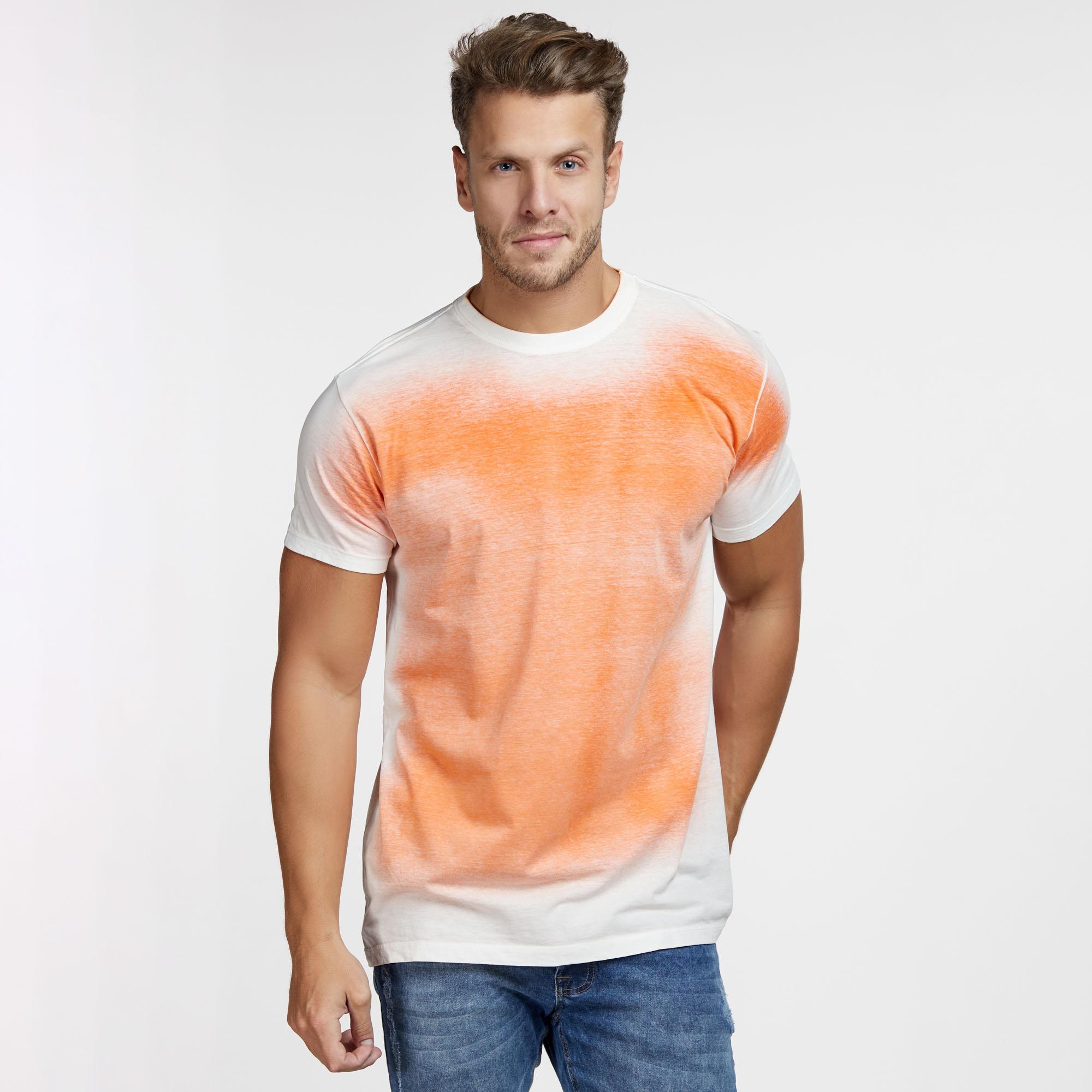 Camiseta Masculina Spray Interno Laranja
