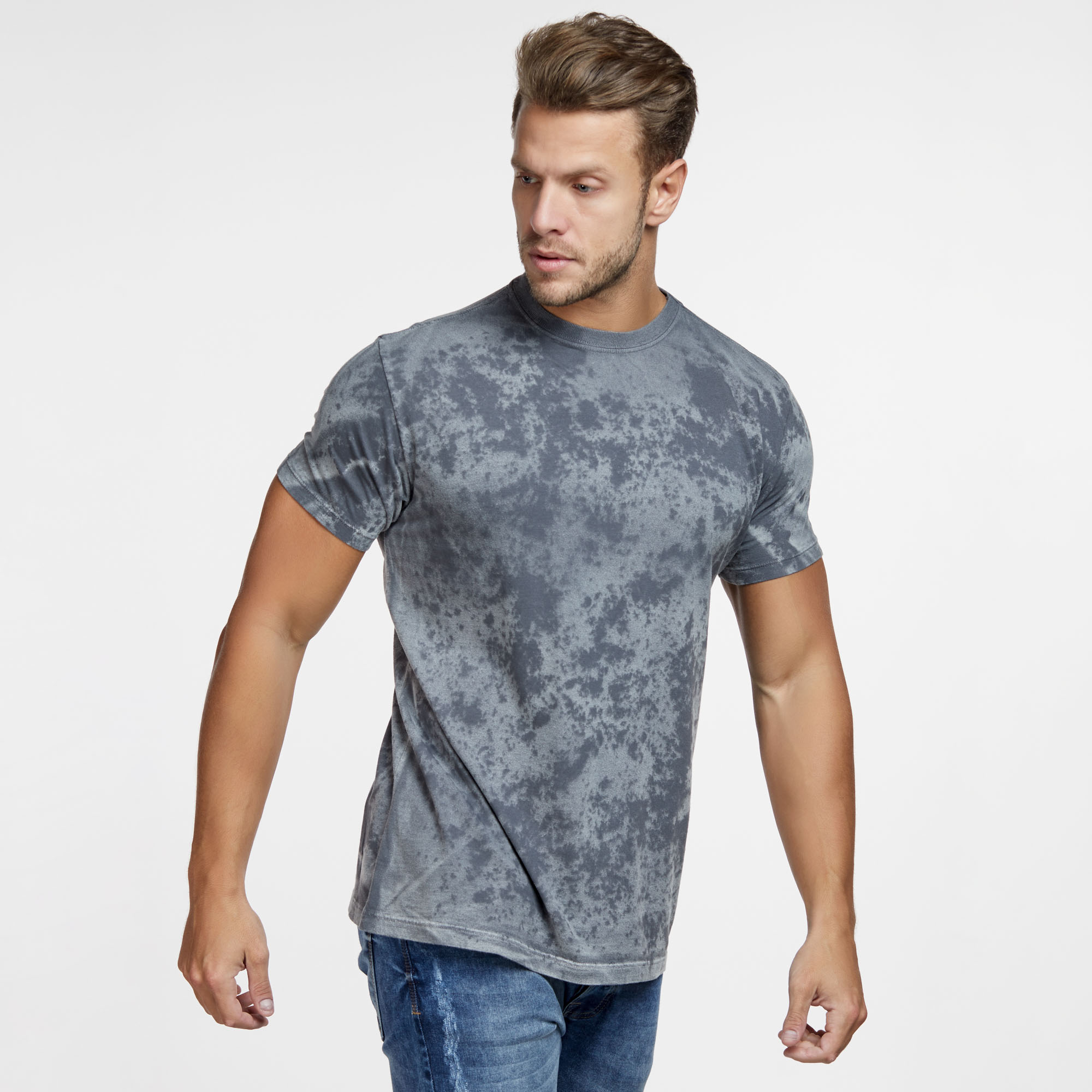 Camiseta Masculina Texturizada Cinza