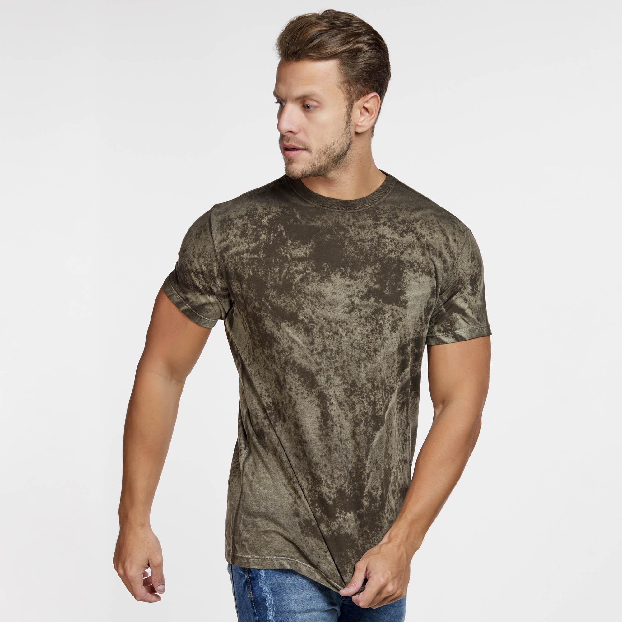 Camiseta Masculina Texturizada Marrom