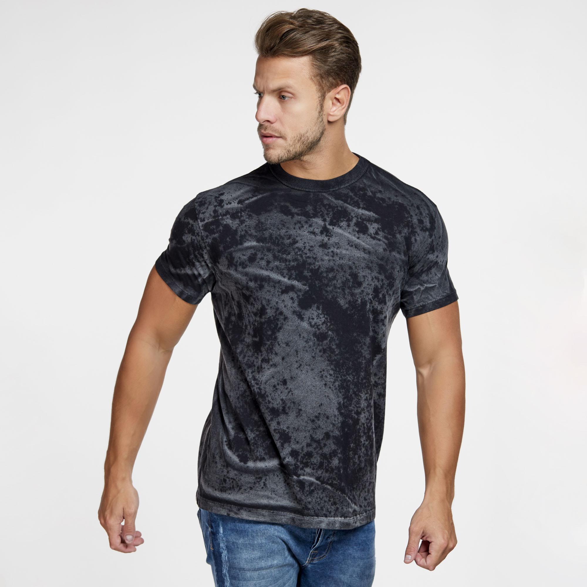 Camiseta Masculina Texturizada Preta