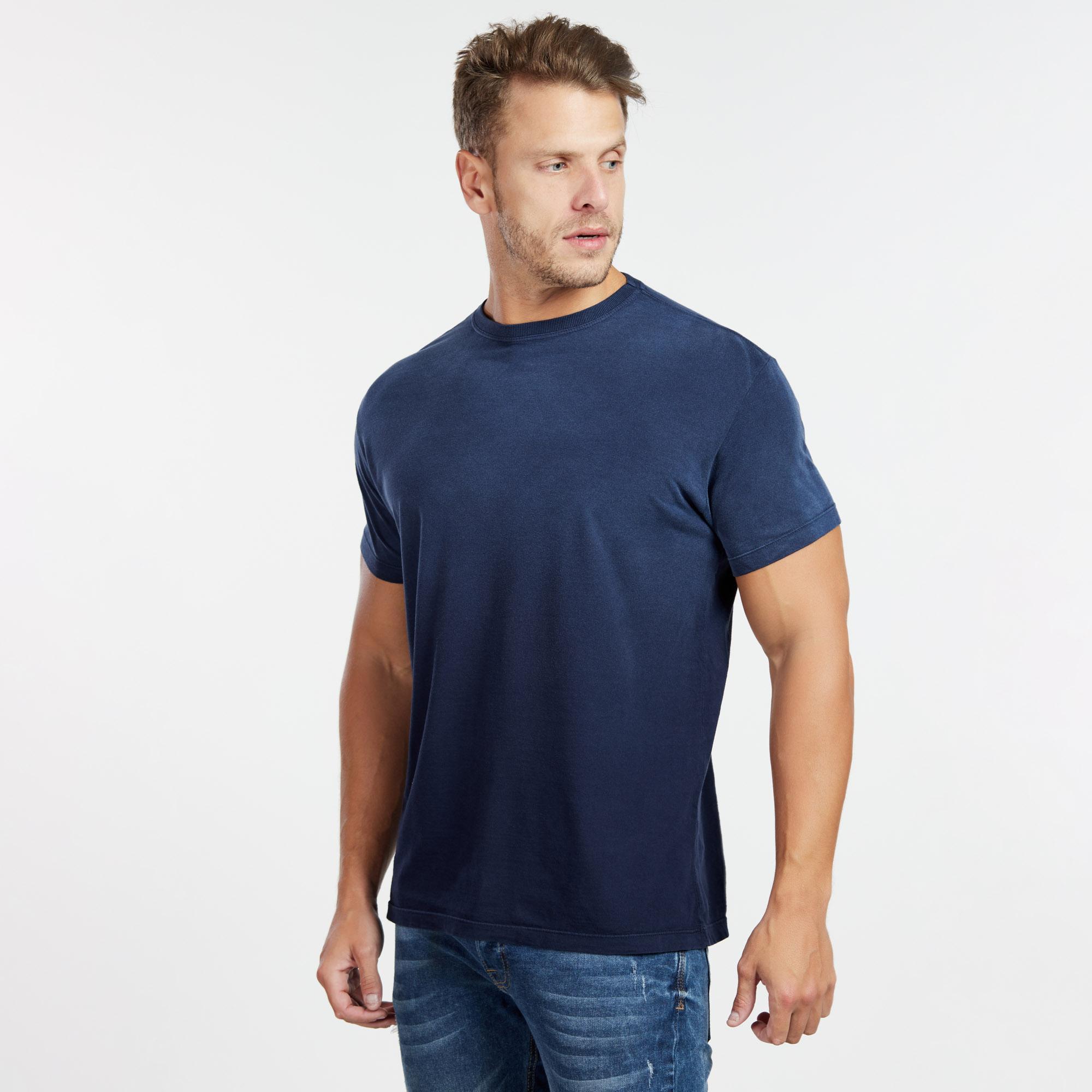 Camiseta Masculina Used Superior Azul Marinho