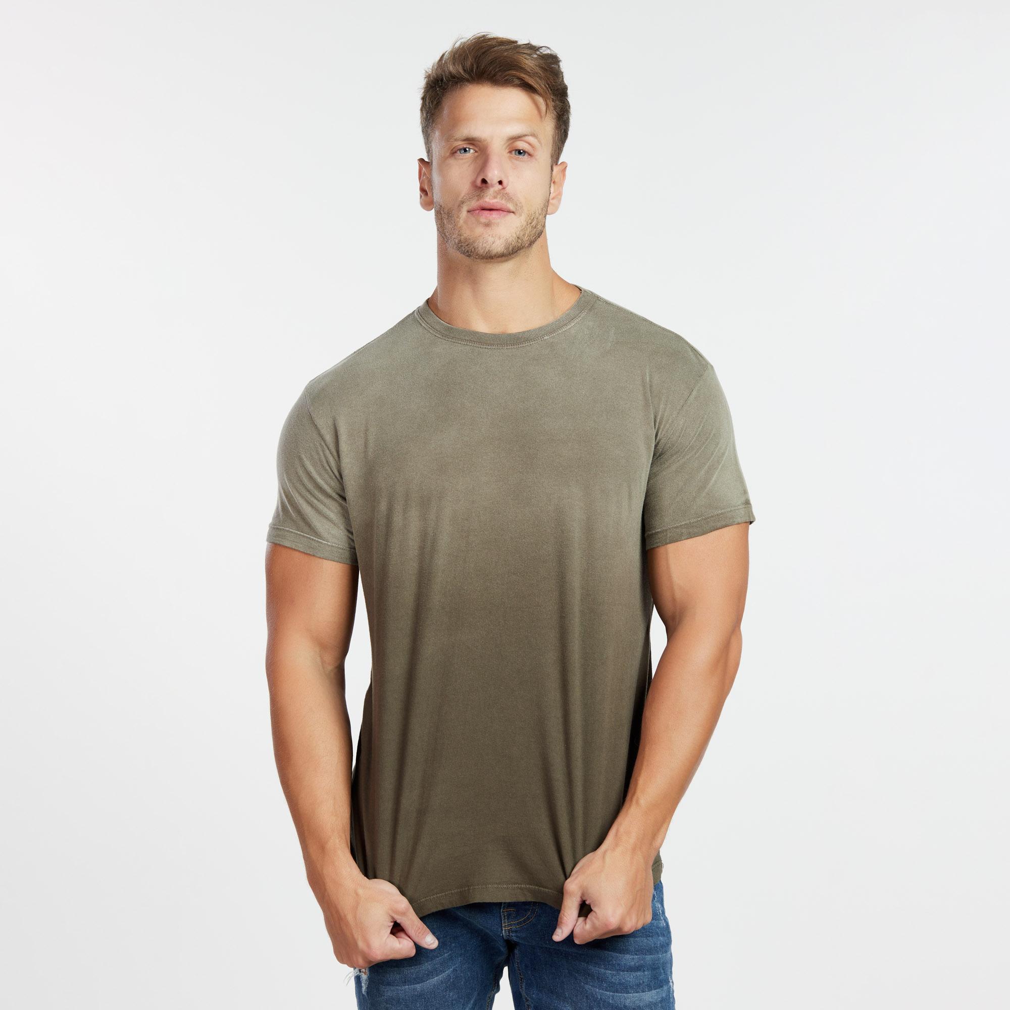 Camiseta Masculina Used Superior Marrom