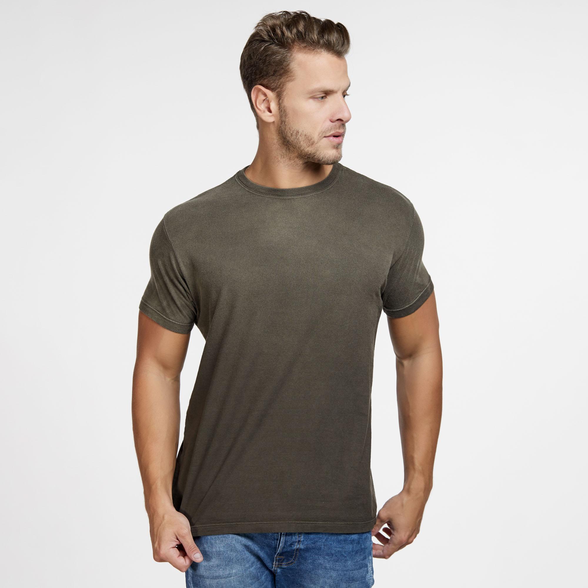Camiseta Masculina Used Total Marrom