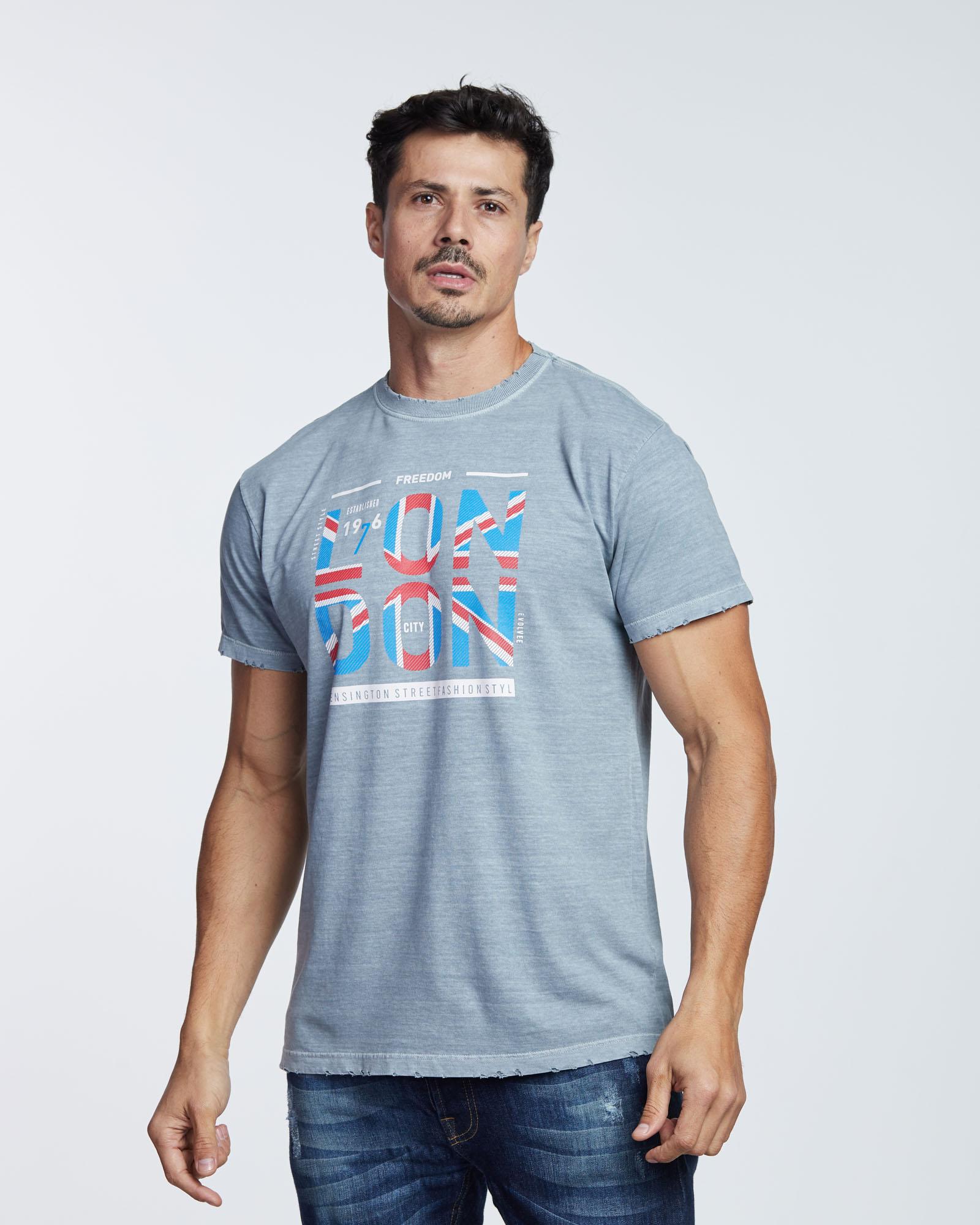 Camiseta Stone Destroyer London Masculina Evolvee