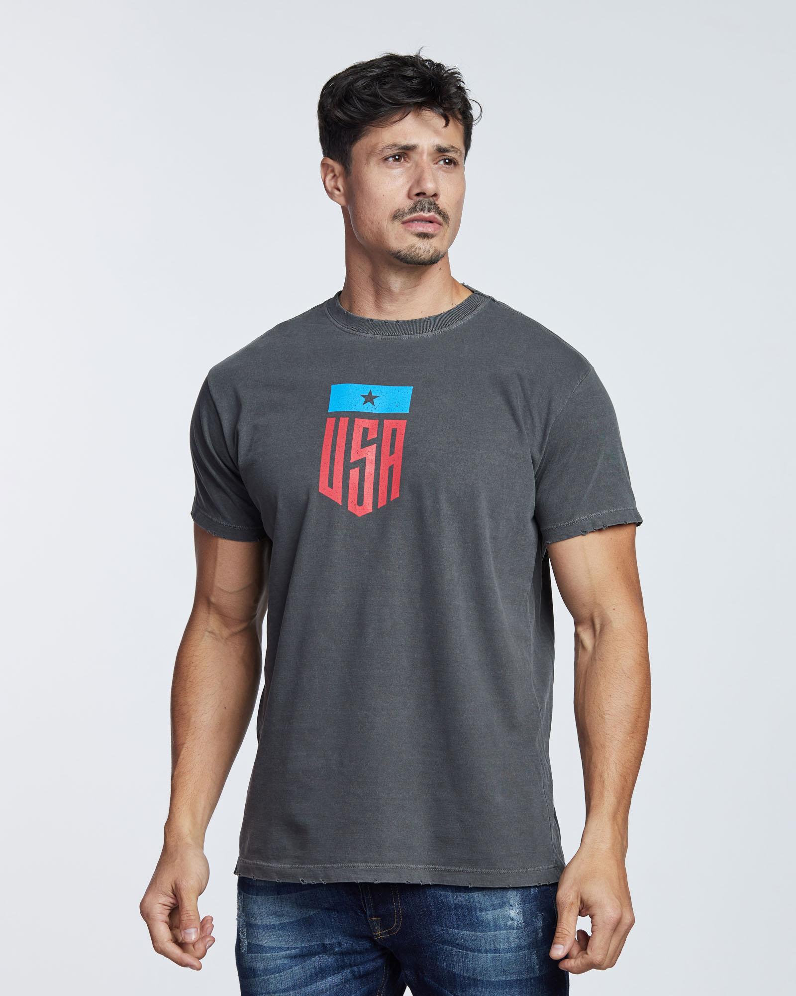 Camiseta USA Star Masculina Evolvee