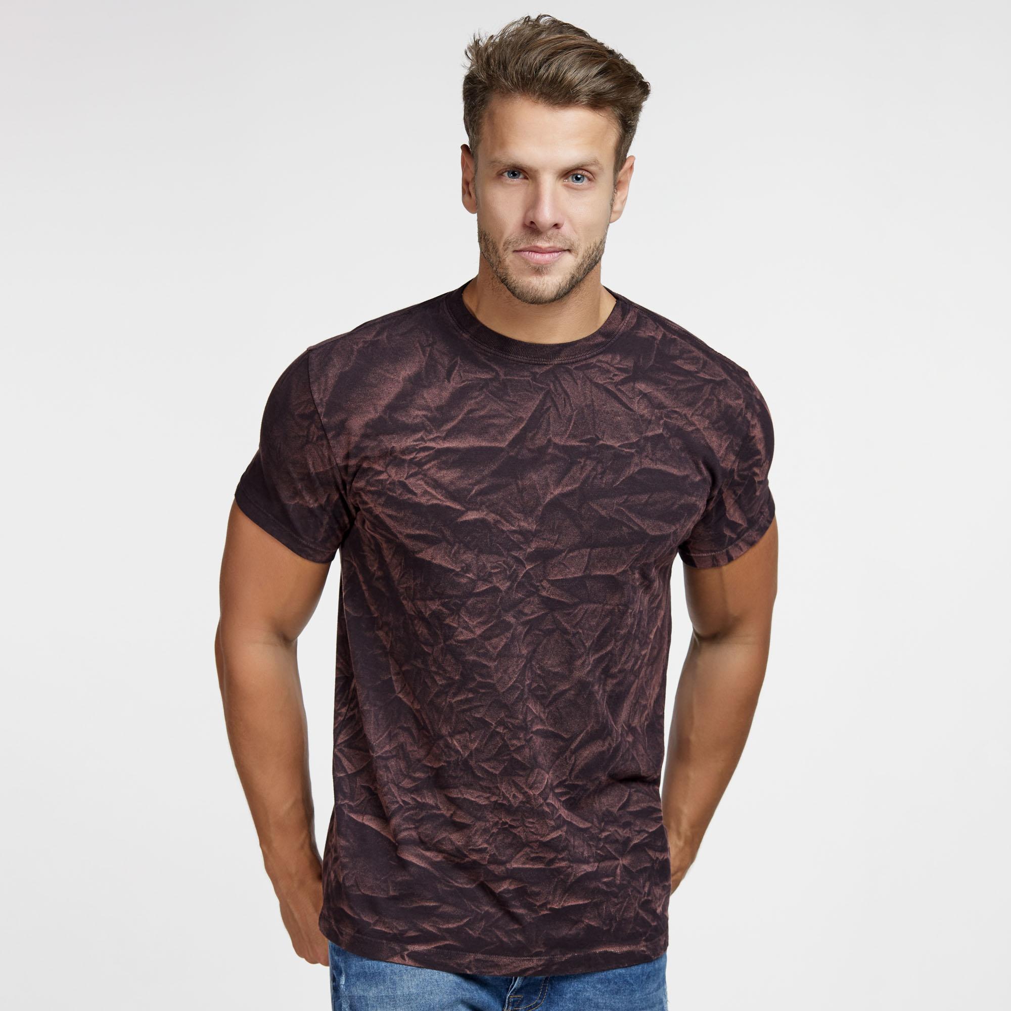 Camiseta Masculina 3D Bordo