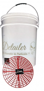 Detailer Balde Branco com Grelha Separadora de Partículas Vermelho (Un)